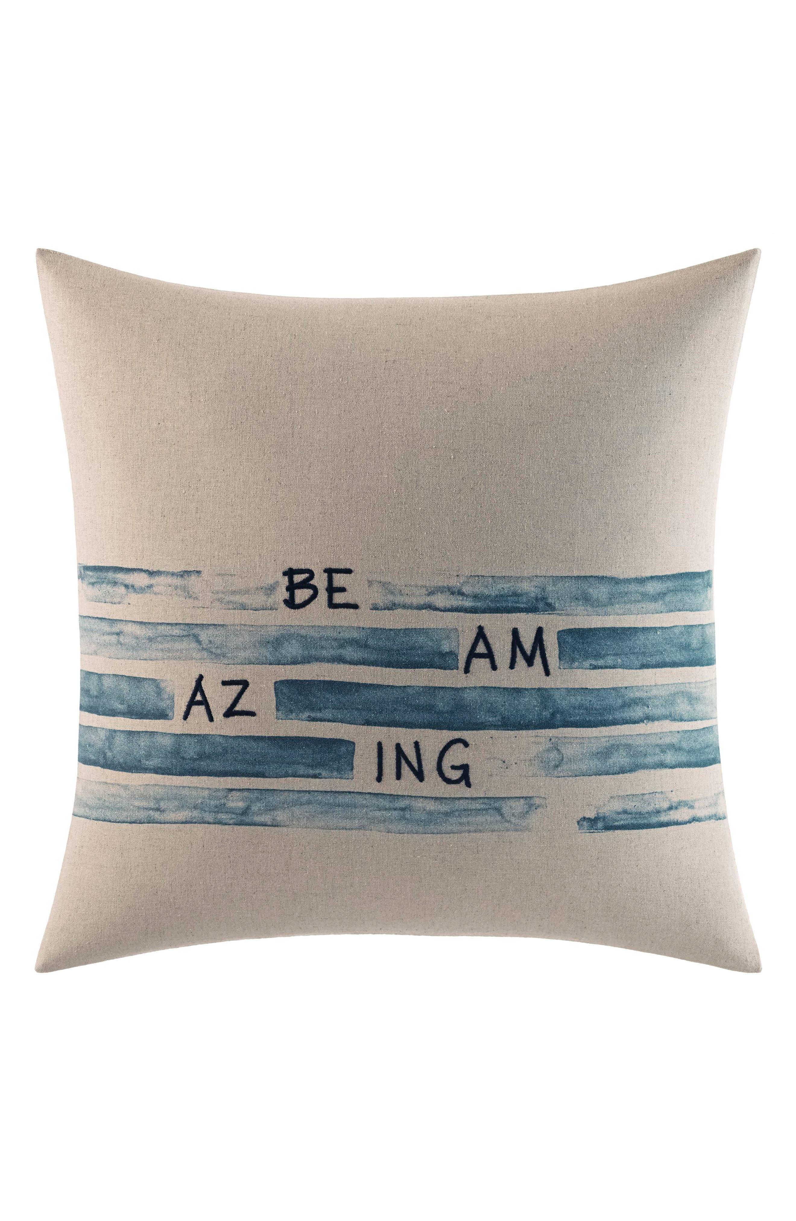 Be Amazing Pillow,                             Main thumbnail 1, color,                             BEIGE
