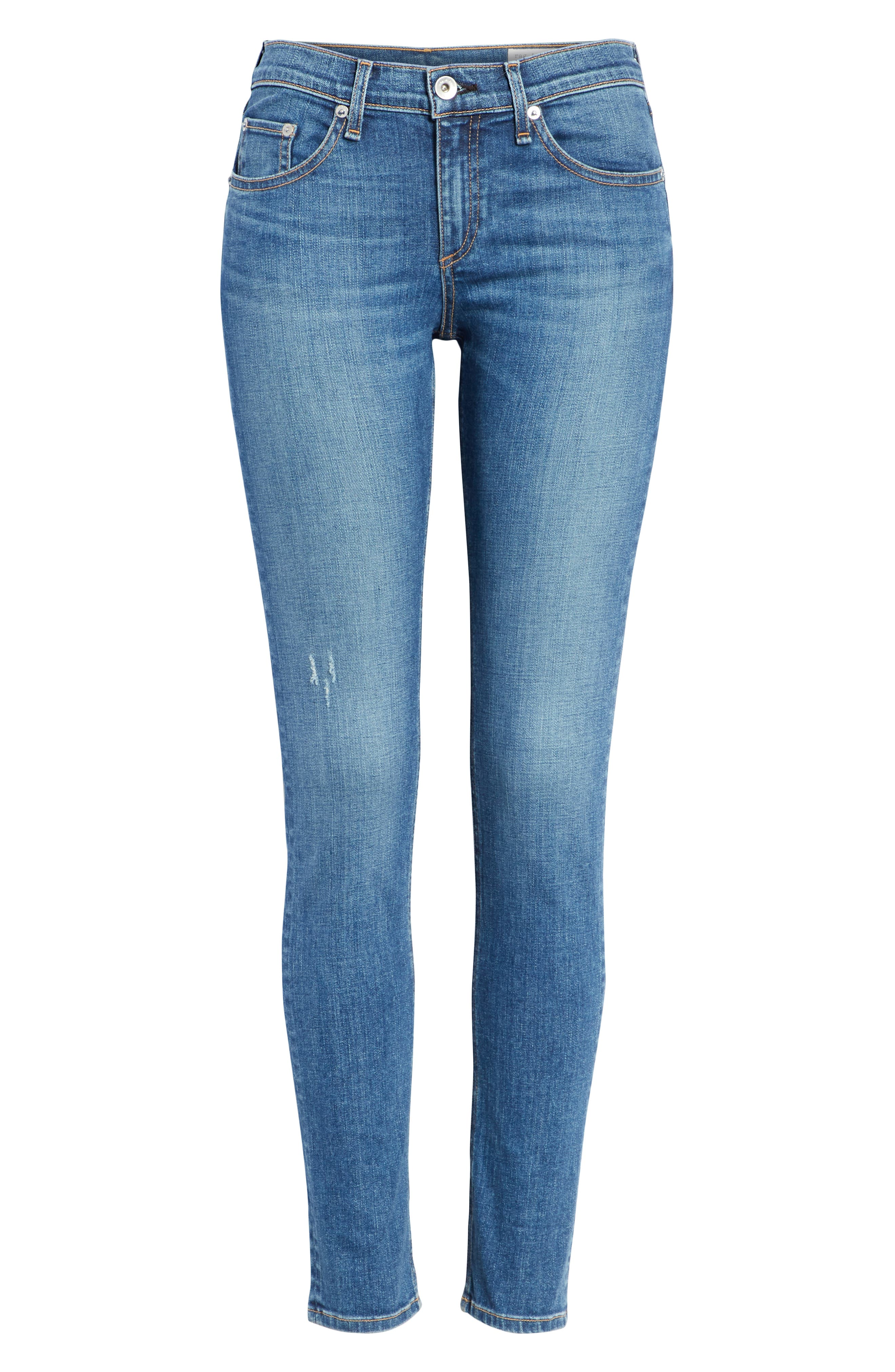 RAG & BONE,                             Skinny Jeans,                             Alternate thumbnail 7, color,                             420