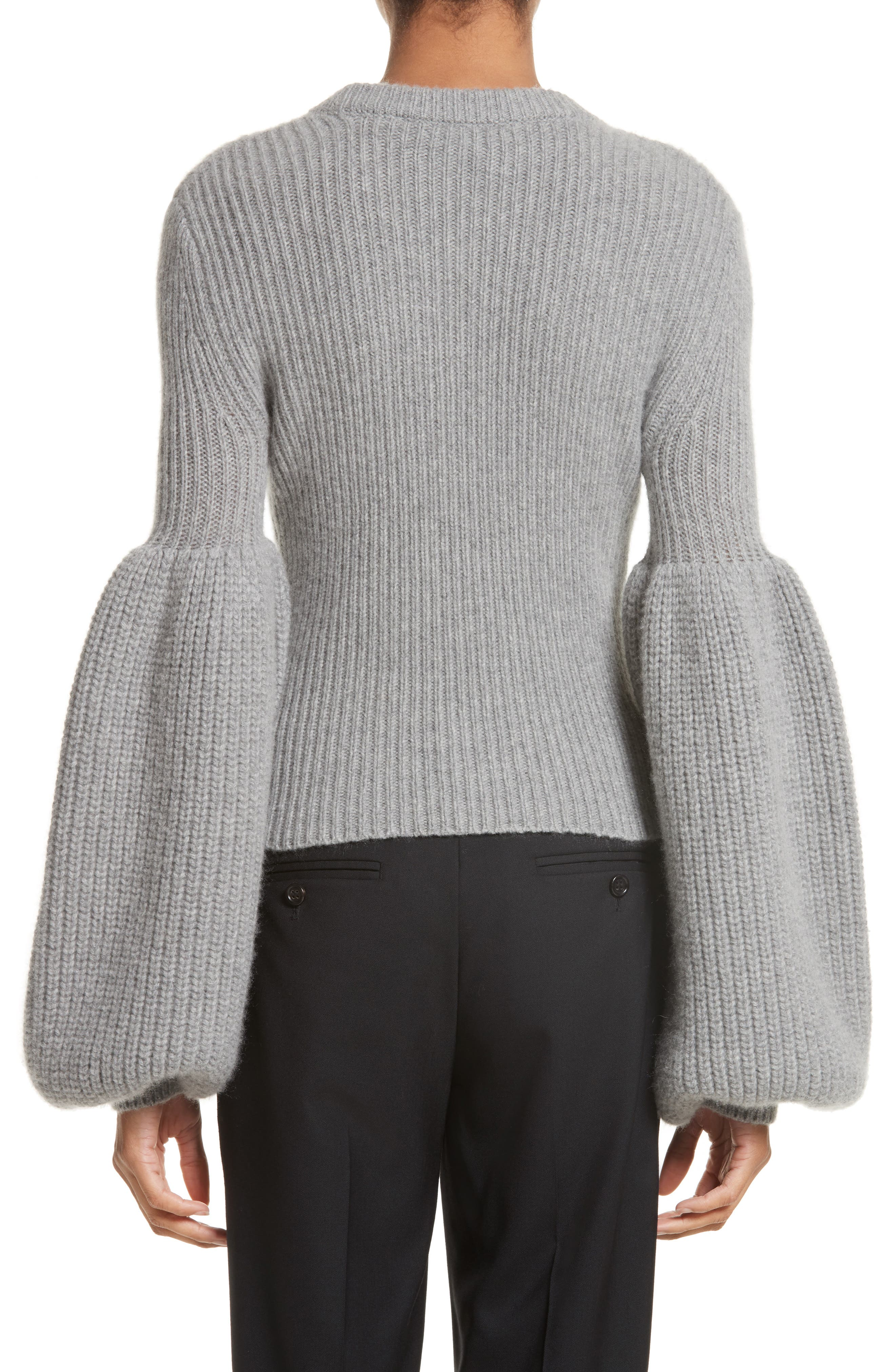 Puff Lantern Sleeve Wool & Cashmere Blend Sweater,                             Alternate thumbnail 2, color,                             020