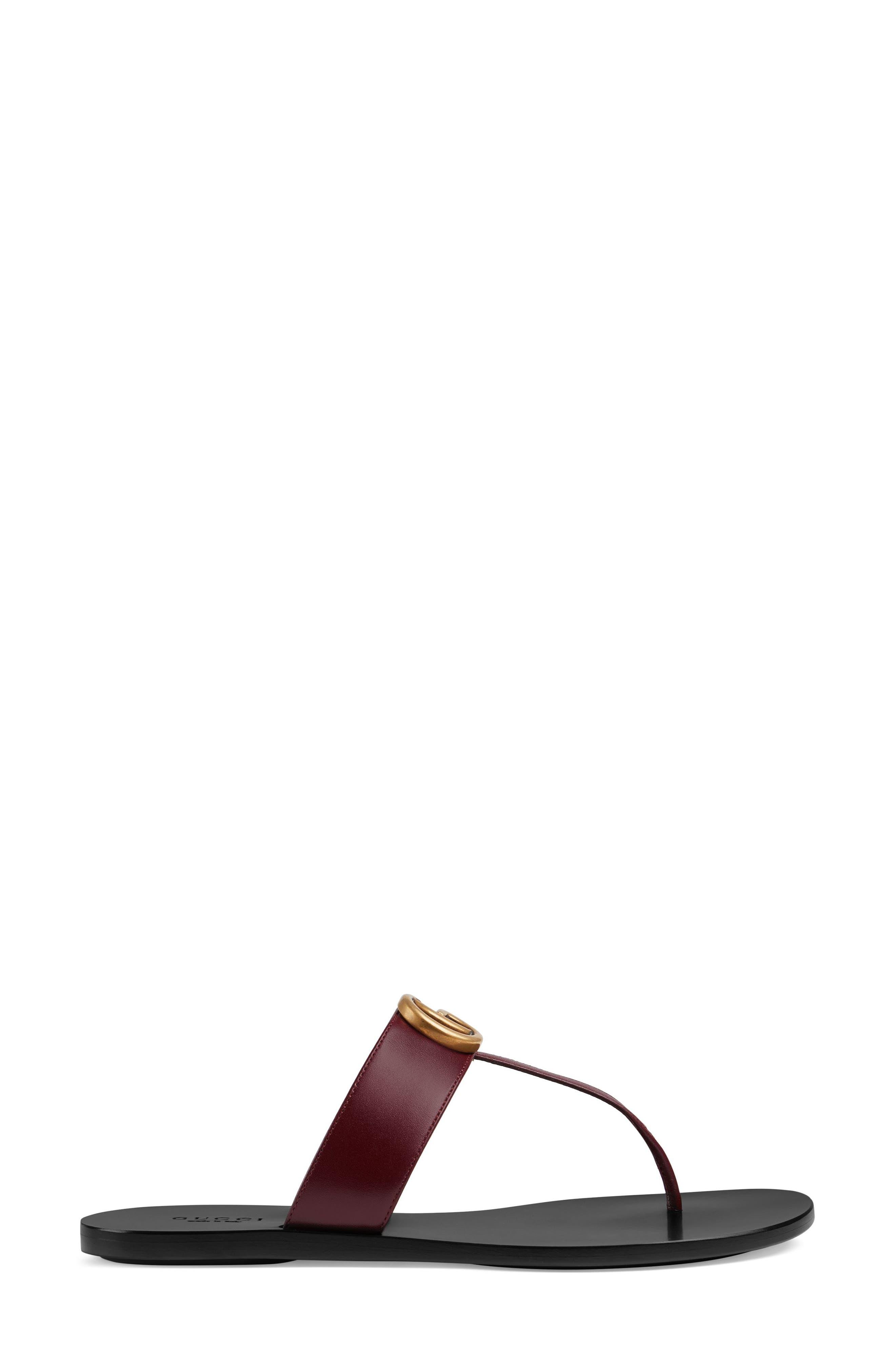 Marmont T-Strap Sandal,                             Alternate thumbnail 2, color,                             VINTAGE BORDEAUX