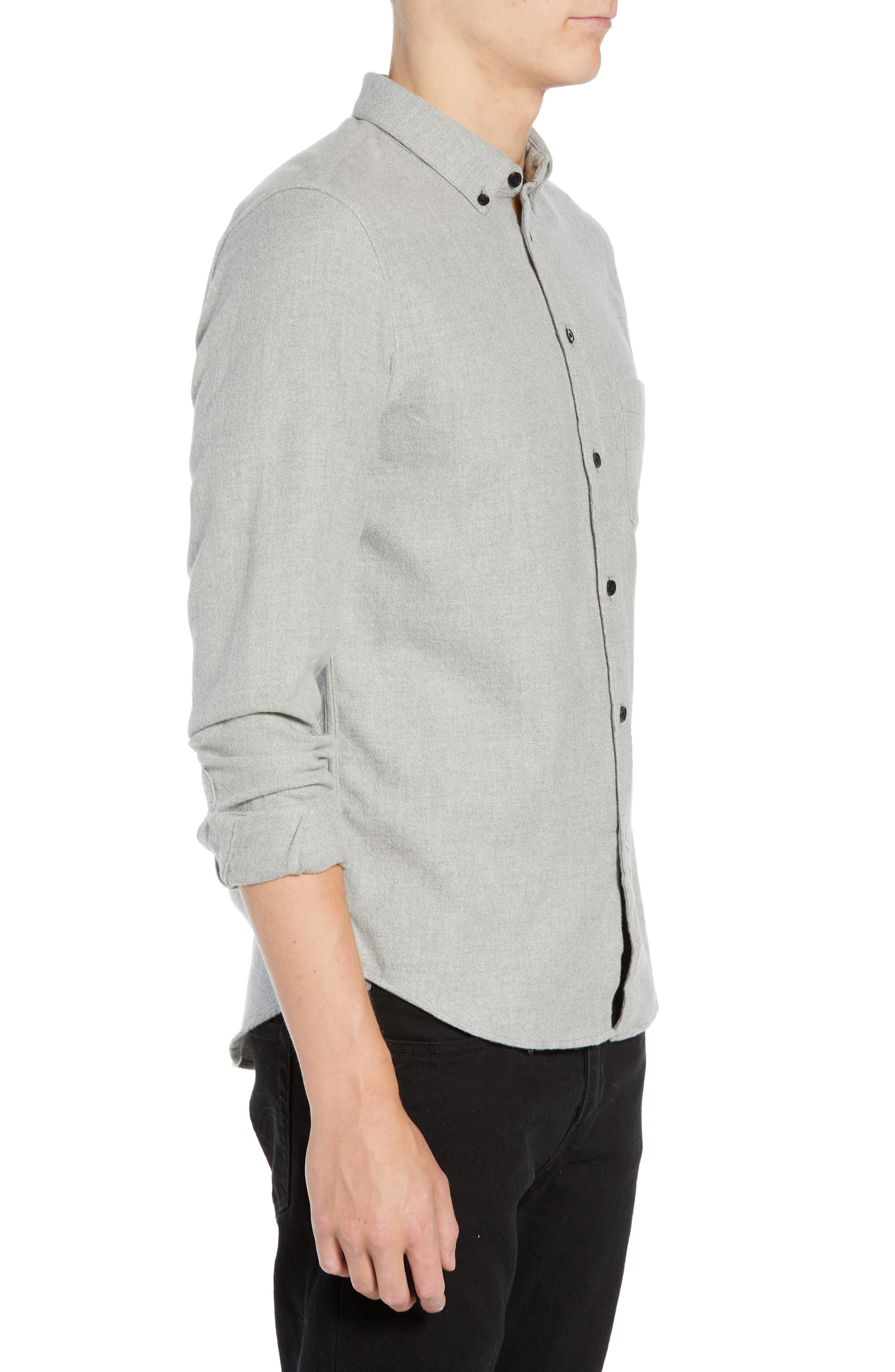 Levi's<sup>®</sup> Made & Crafted Regular Fit Mélange Shirt,                             Alternate thumbnail 4, color,                             020