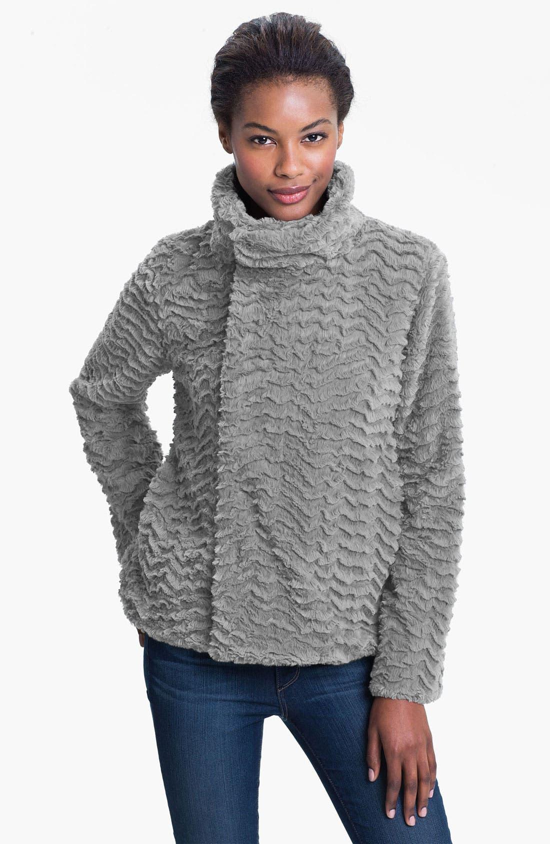 'Pelage' Fleece Jacket, Main, color, 021