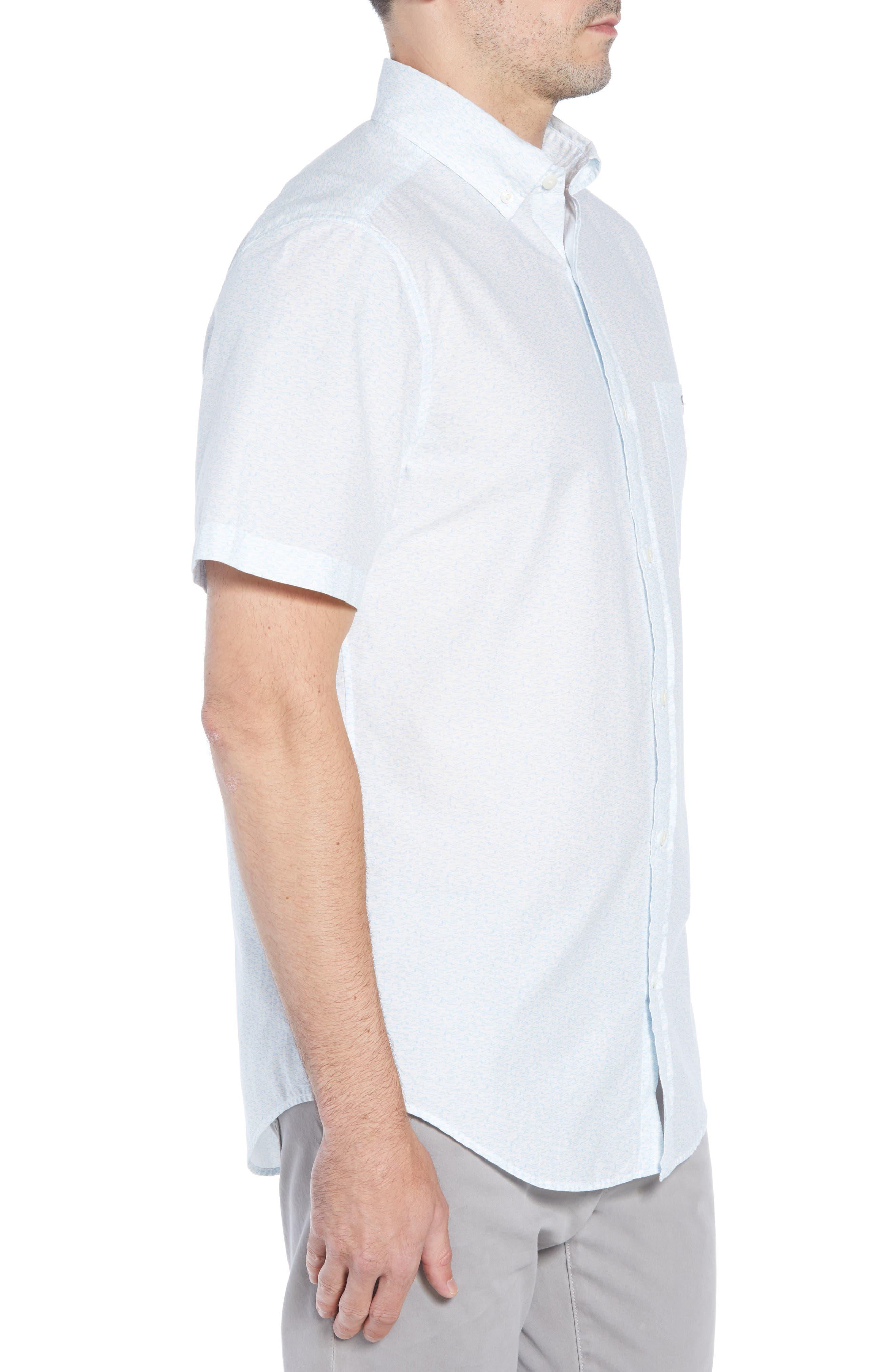 Cape Codder Slim Tucker Sport Shirt,                             Alternate thumbnail 3, color,                             100