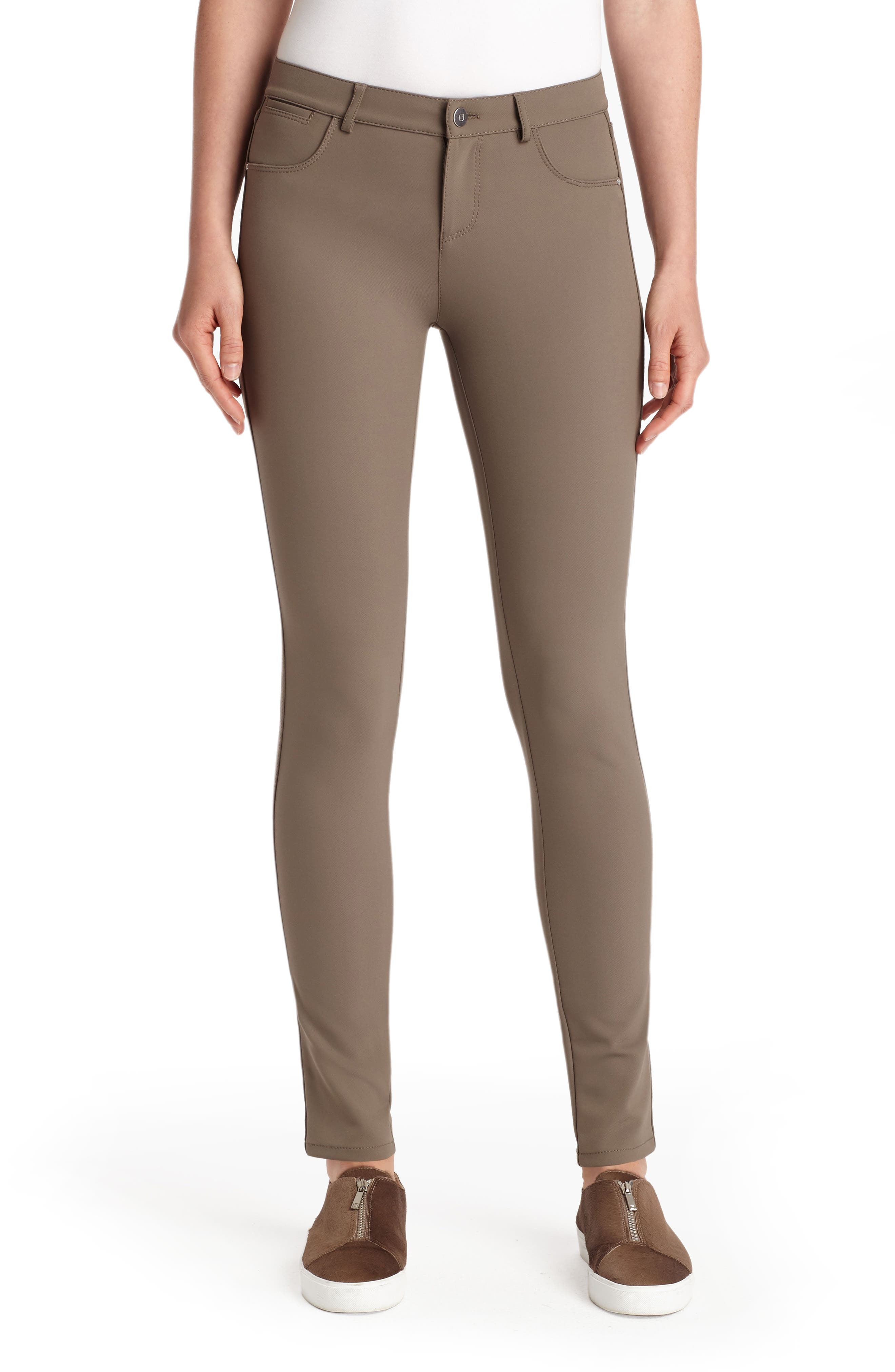Mercer Acclaimed Stretch Mid-Rise Skinny Jeans in Nougat
