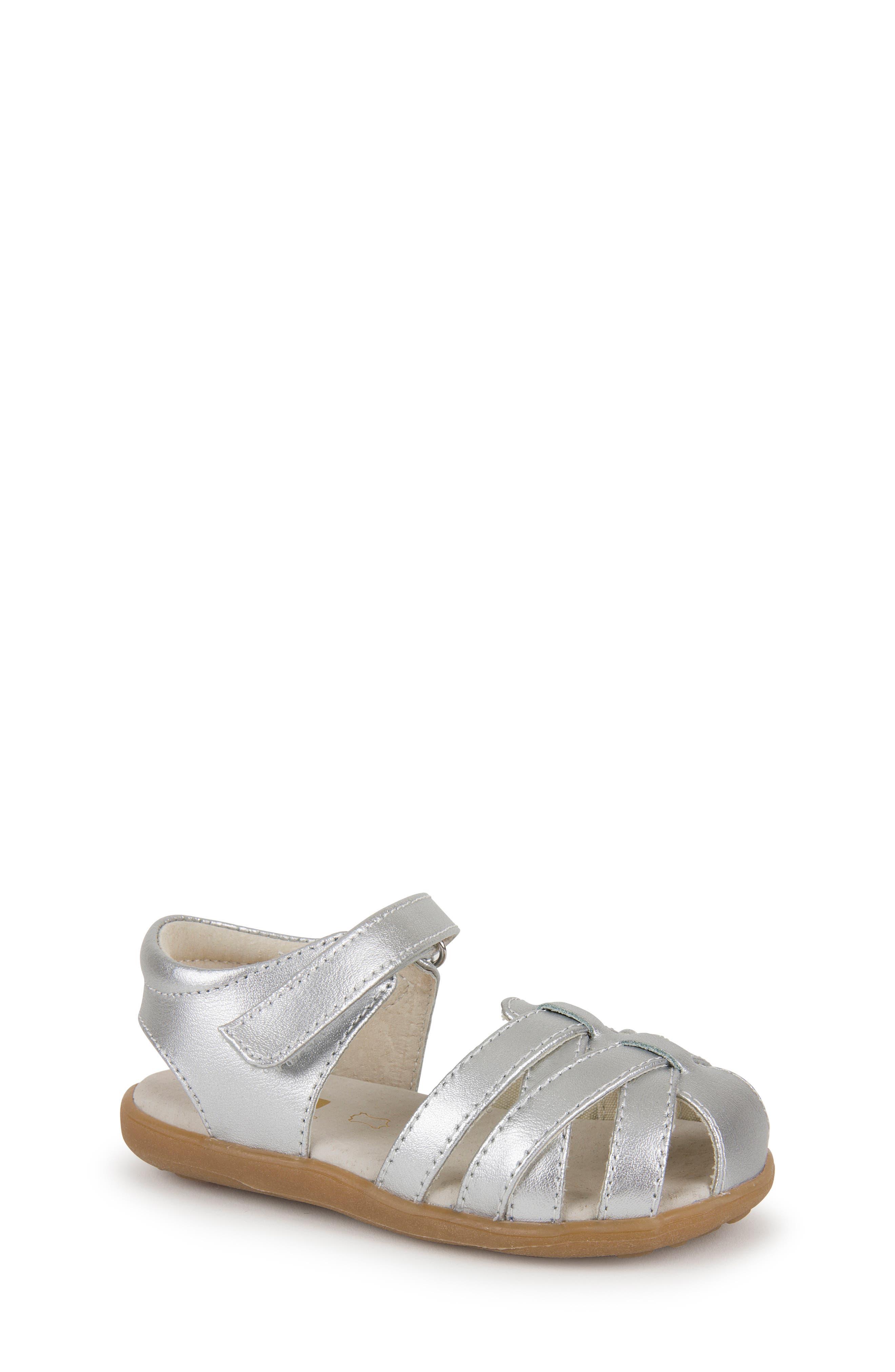 SEE KAI RUN Camila II Sandal, Main, color, SILVER