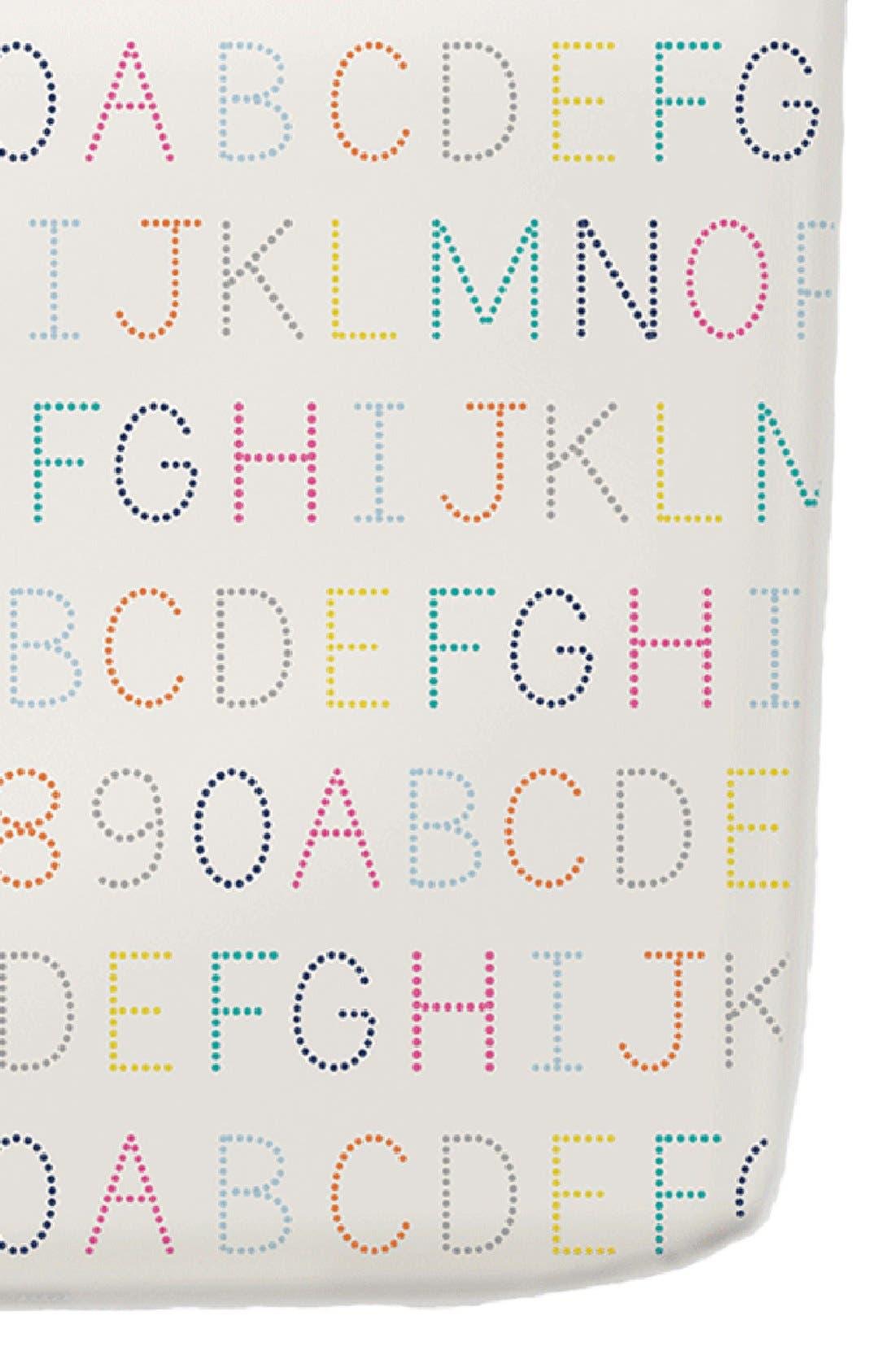 Alphabet Crib Sheet,                             Main thumbnail 1, color,                             MULTI