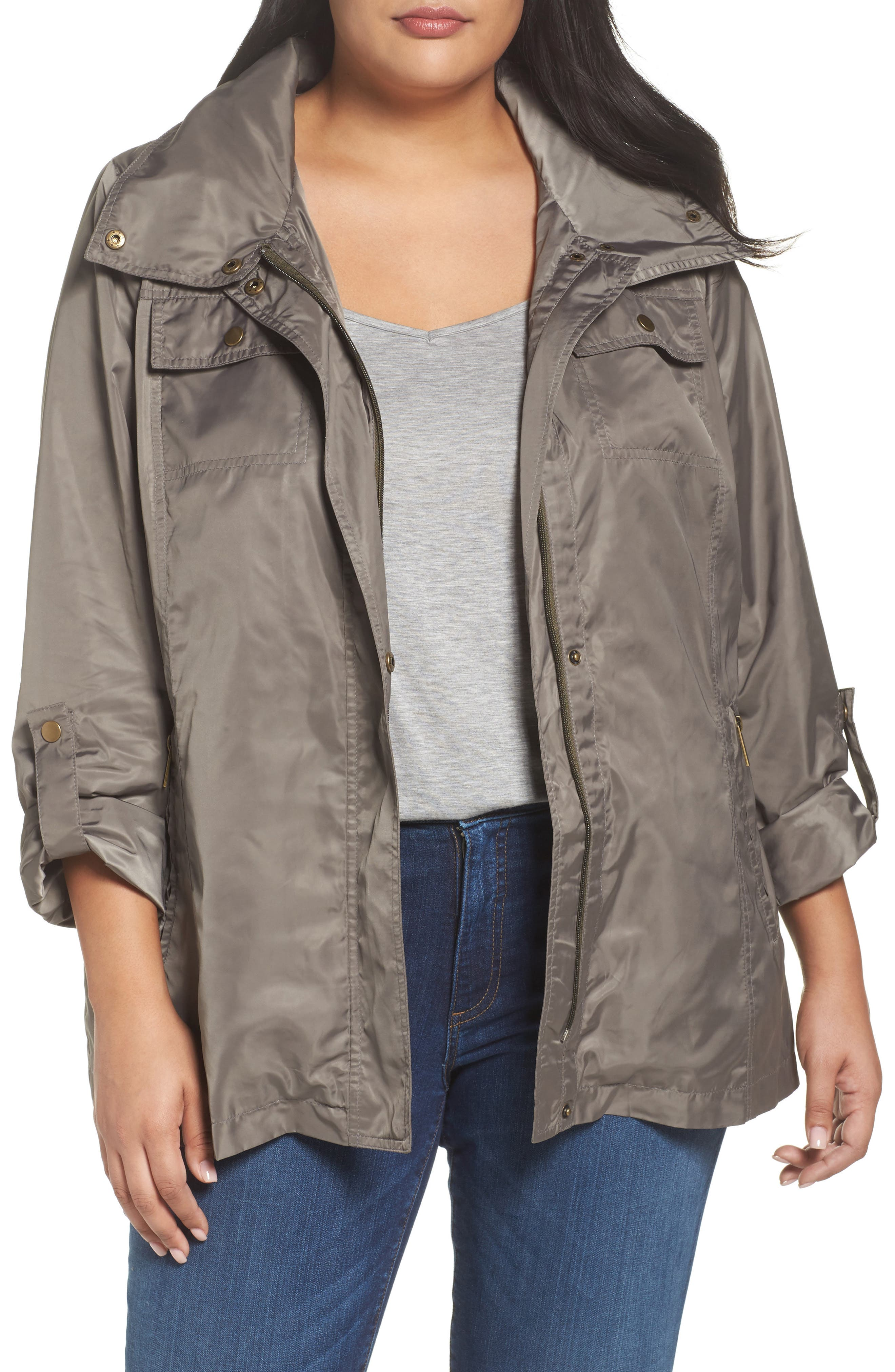 HALOGEN<SUP>®</SUP>,                             Belted Lightweight Jacket,                             Main thumbnail 1, color,                             BRINDLE