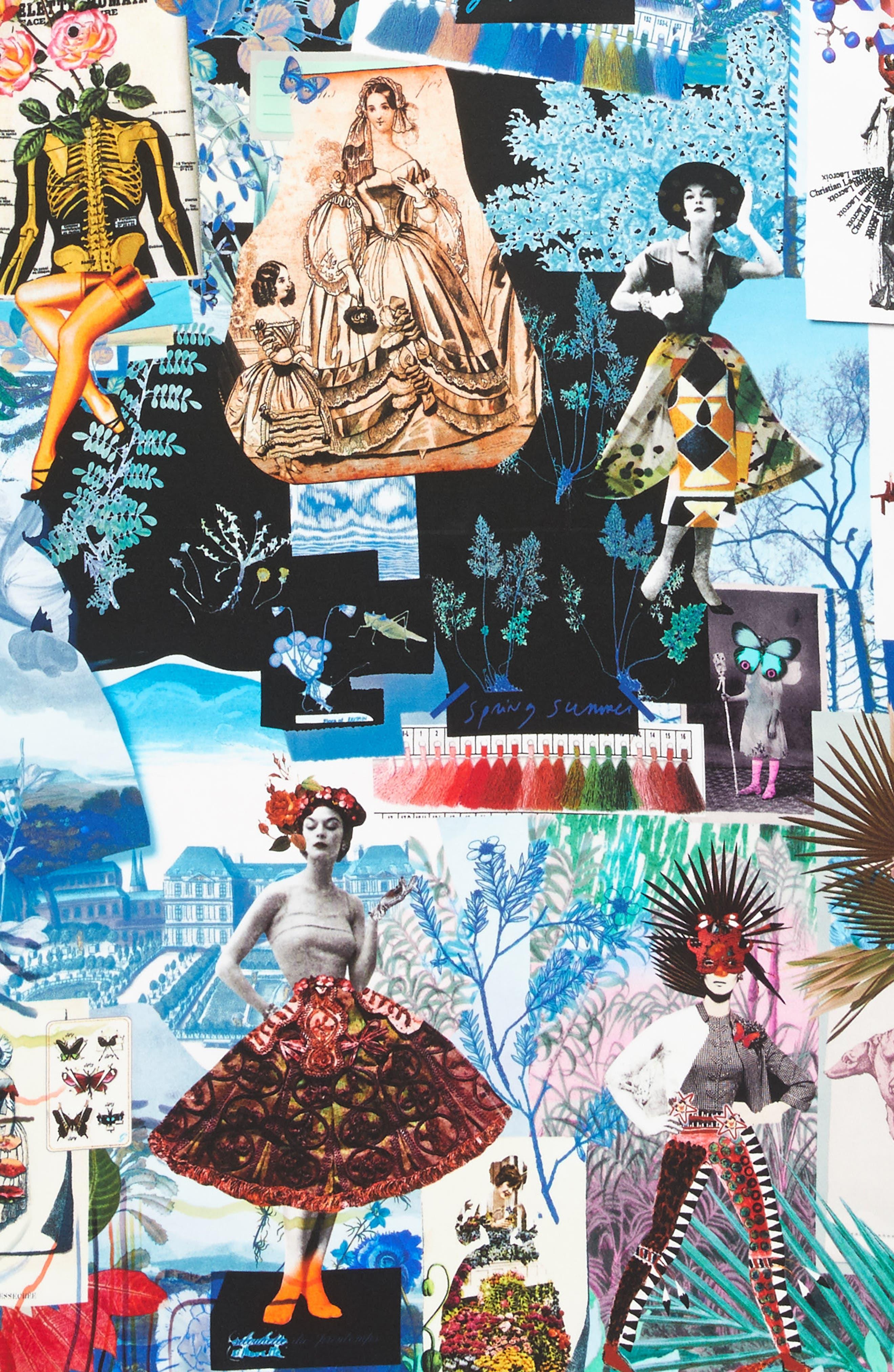 Seasons Silk Square Scarf,                             Alternate thumbnail 8, color,