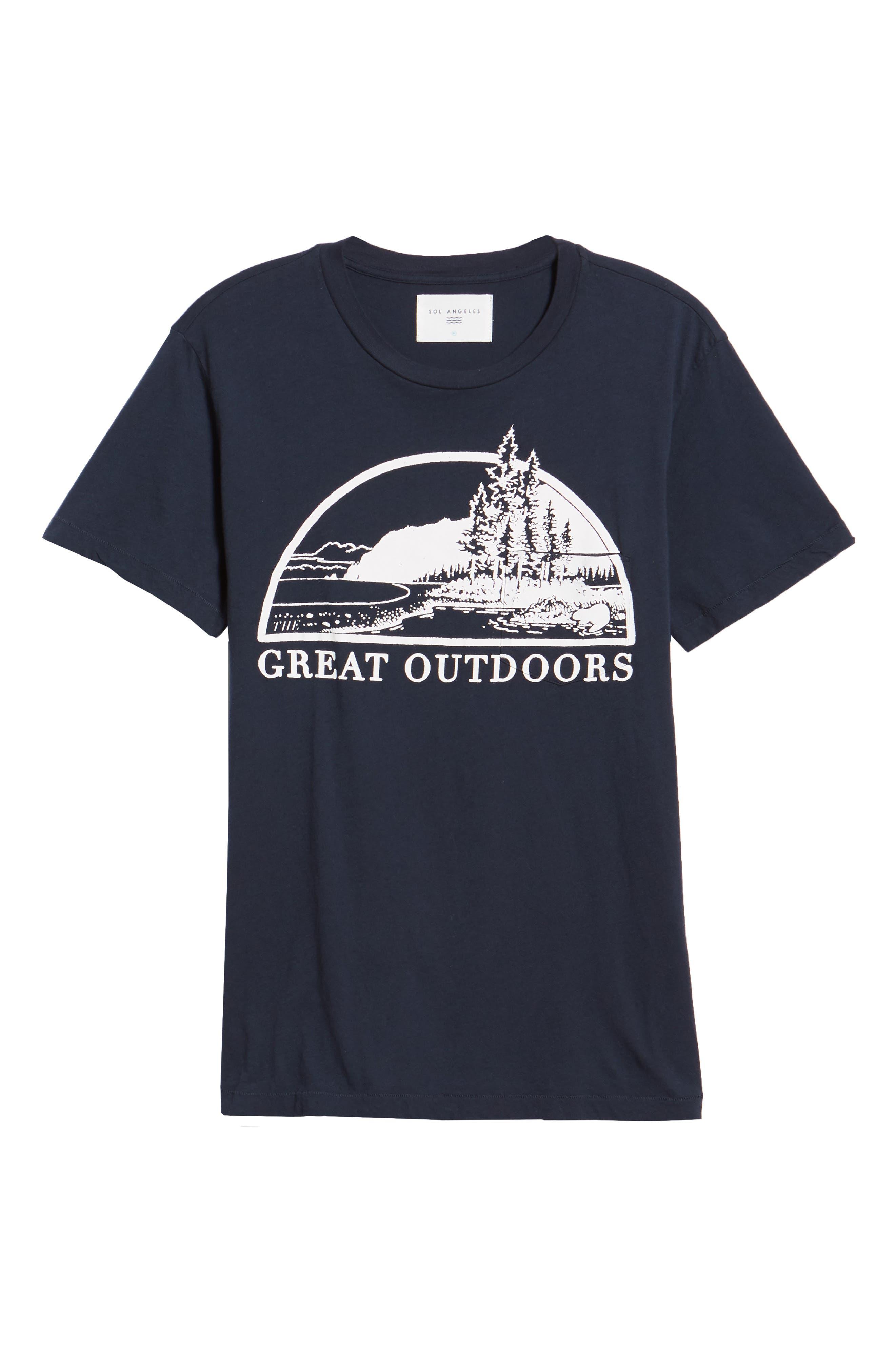 Great Outdoors Pocket T-Shirt,                             Alternate thumbnail 6, color,                             INDIGO