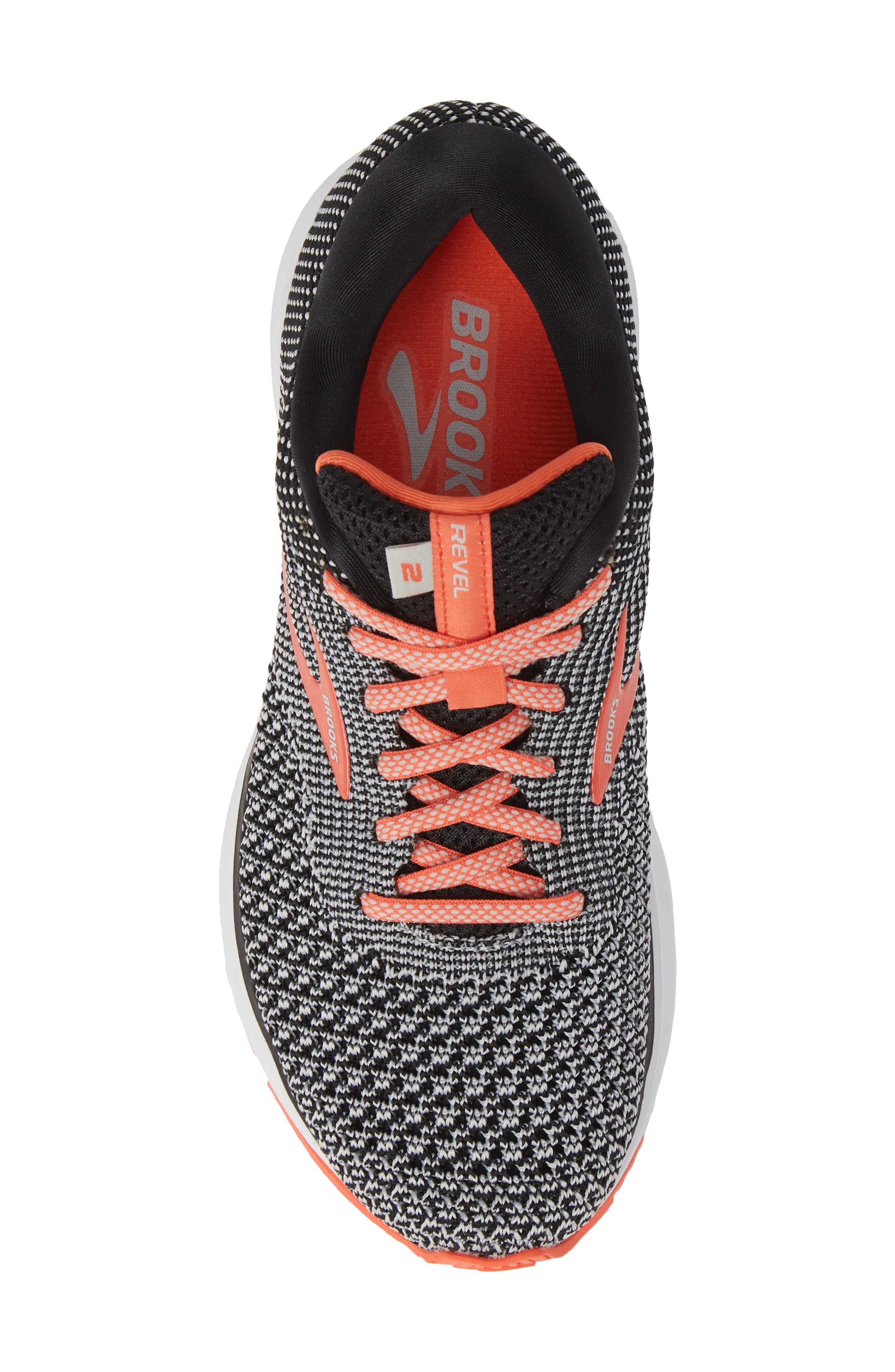Revel 2 Running Shoe,                             Alternate thumbnail 5, color,                             BLACK/ LIGHT GREY/ CORAL