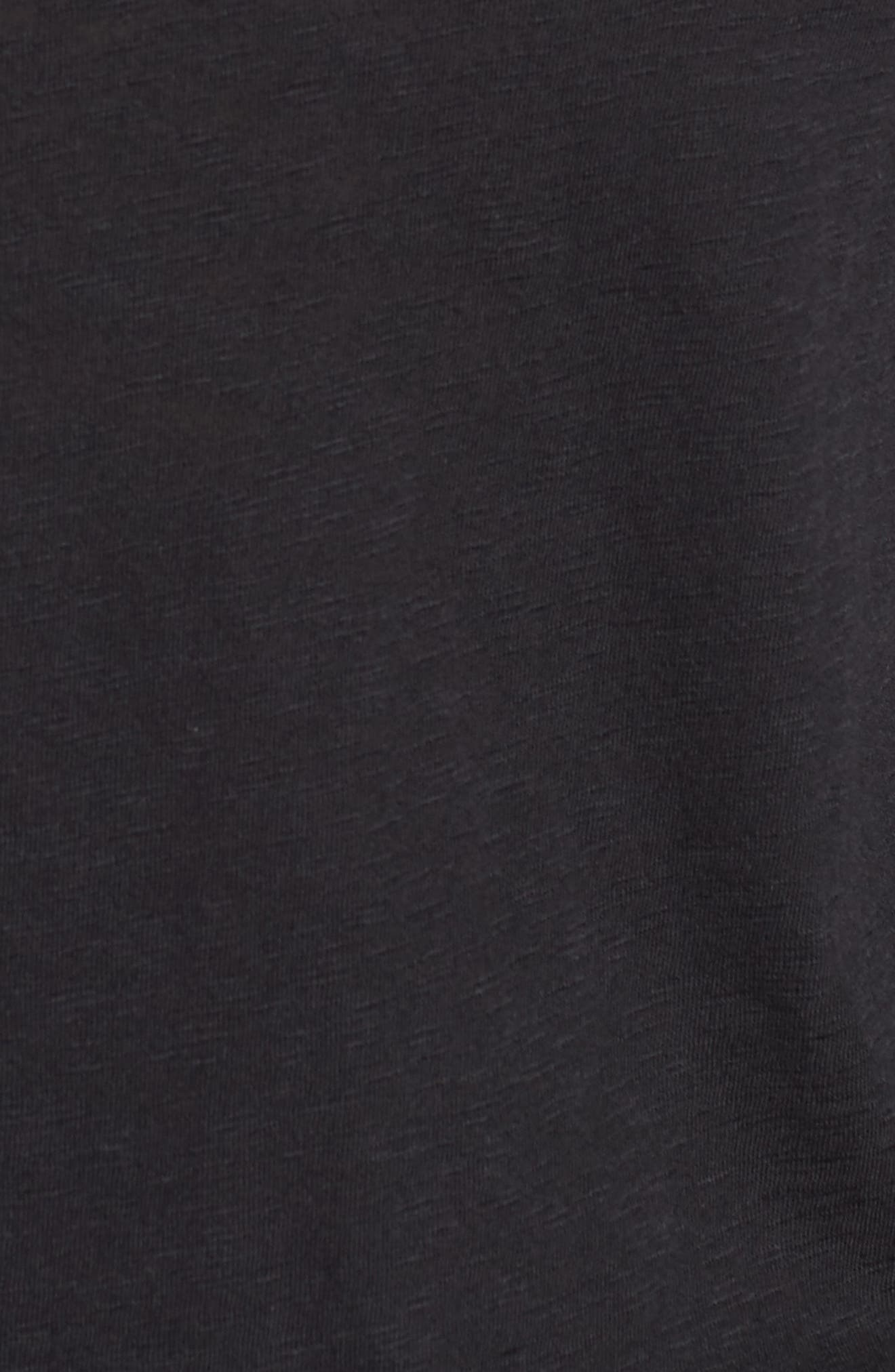 CASLON<SUP>®</SUP>,                             Long Sleeve Crewneck Tee,                             Alternate thumbnail 7, color,                             BLACK