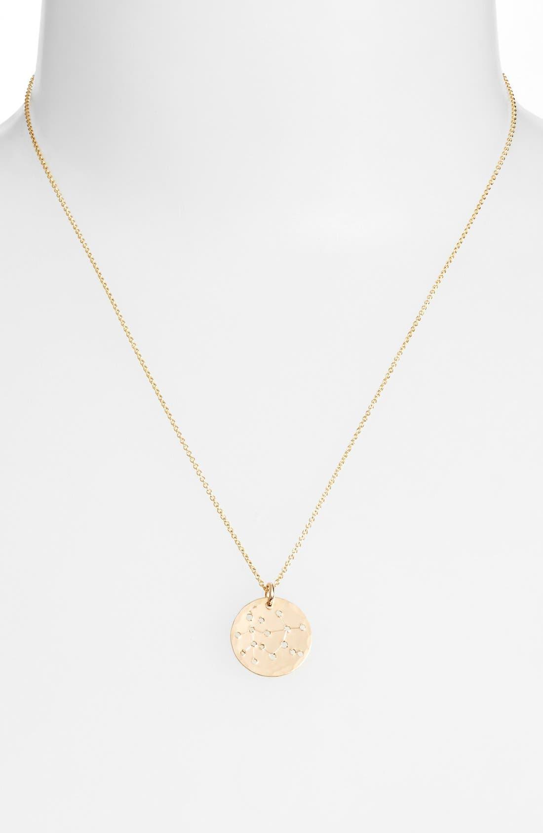 Ija 'Small Zodiac' 14k-Gold Fill Necklace,                             Alternate thumbnail 27, color,