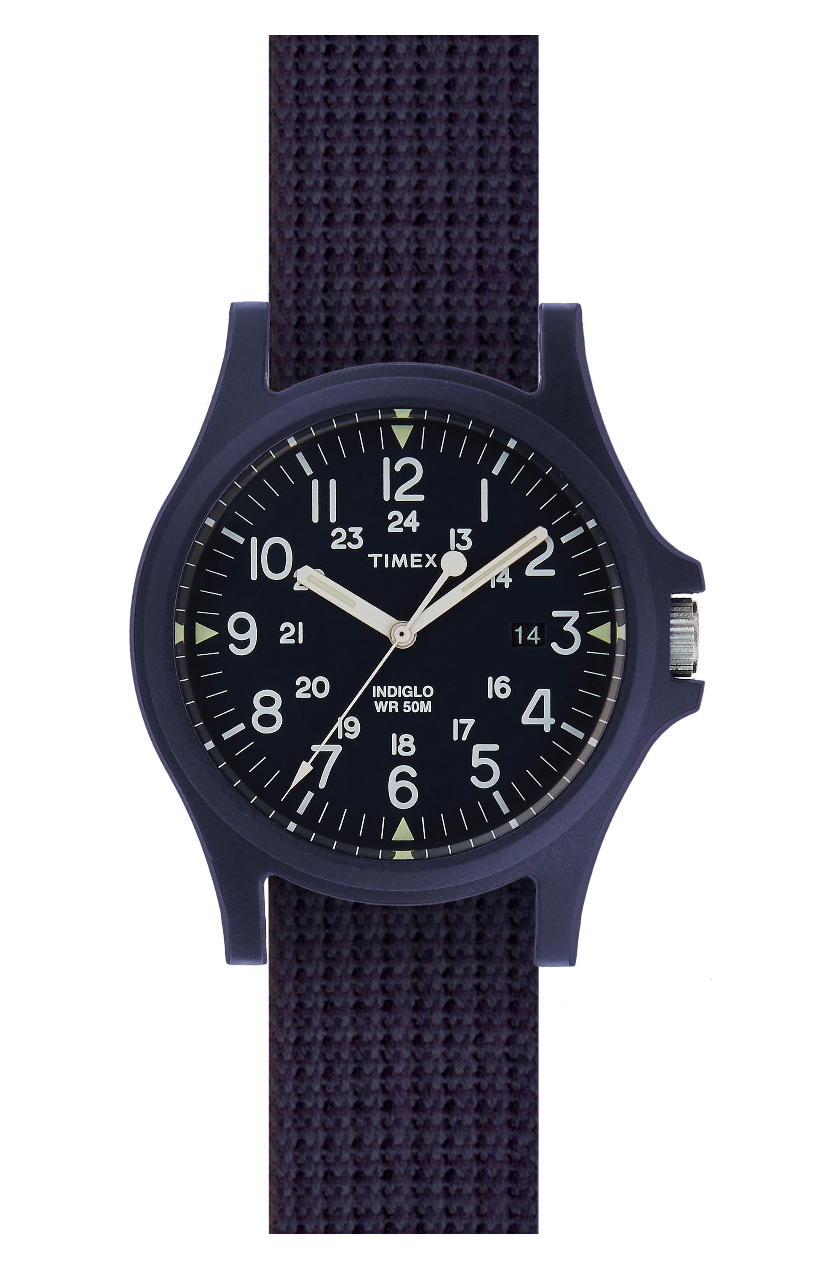 Acadia NATO Strap Watch, 40mm,                         Main,                         color, 400