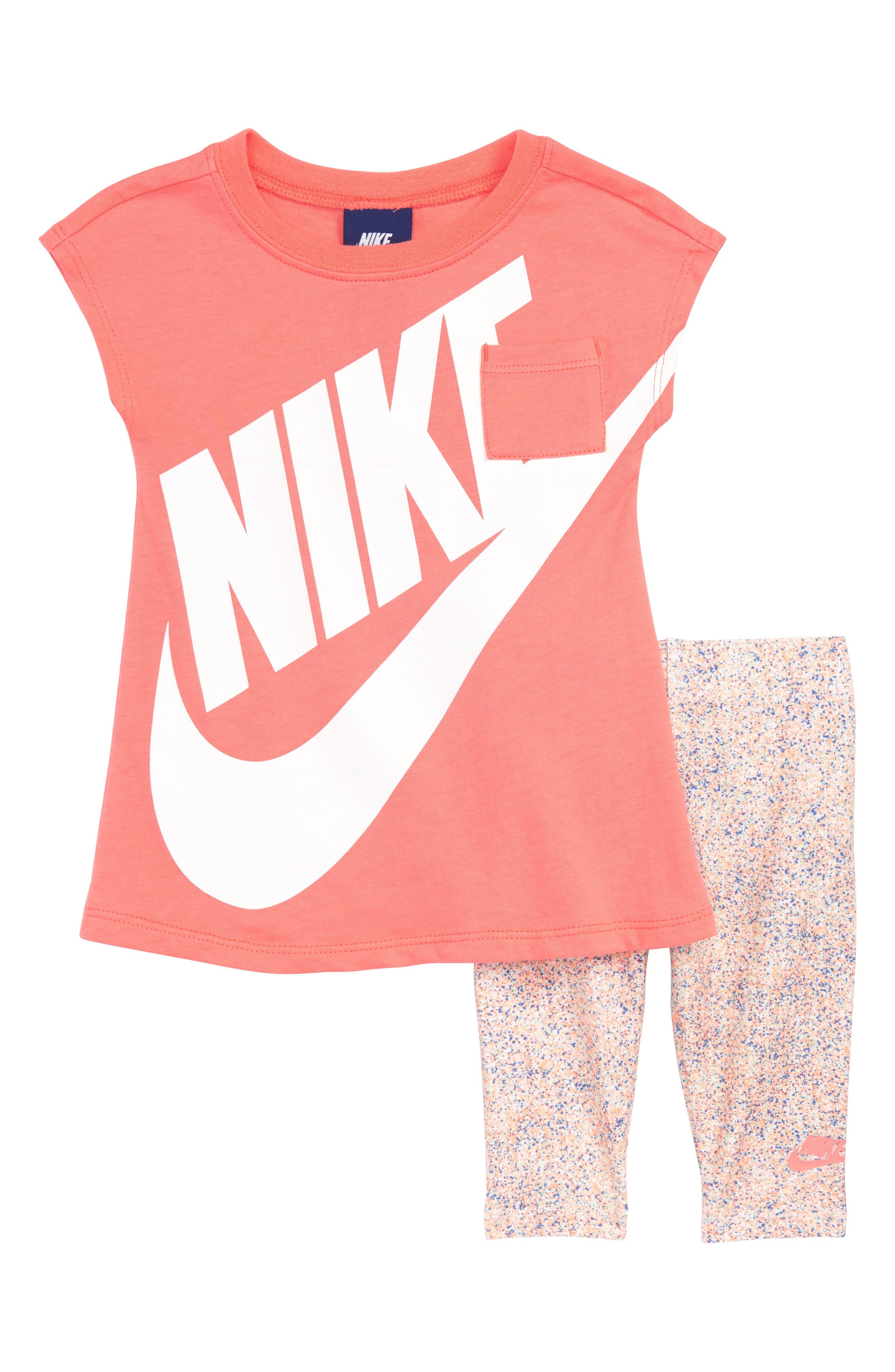 Futura Dress & Capri Leggings Set,                         Main,                         color, 100