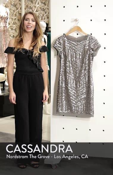 Sequin Embellished Shift Dress, sales video thumbnail