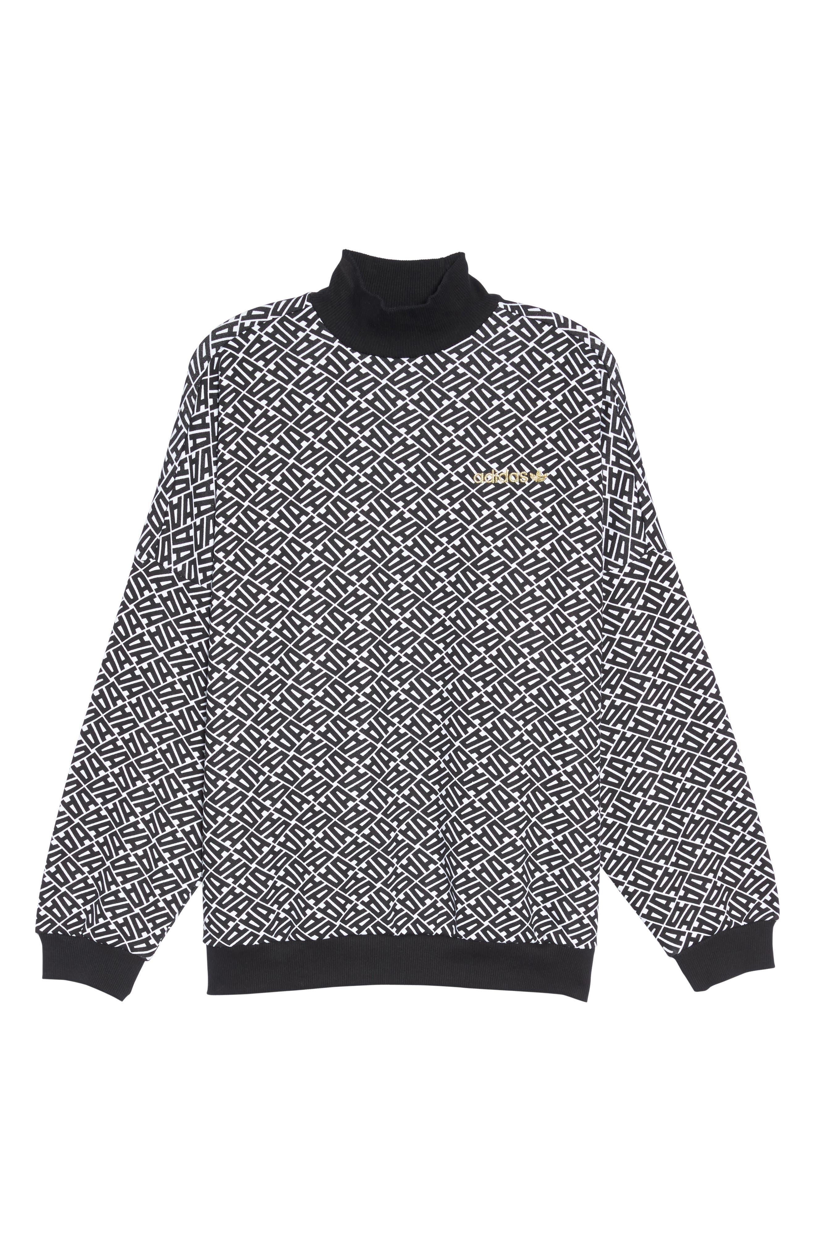 AOP Print Sweatshirt,                             Alternate thumbnail 7, color,                             001