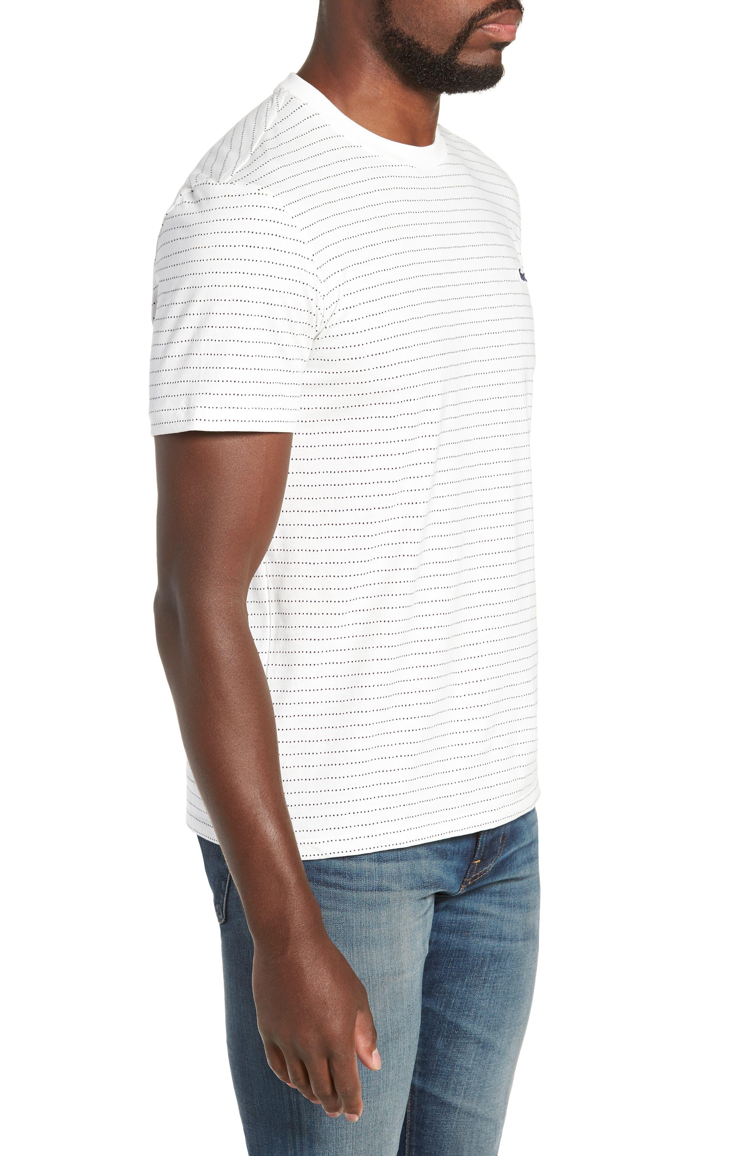 Dotted Stripe T-Shirt,                             Alternate thumbnail 3, color,                             FLOUR/ NAVY BLUE