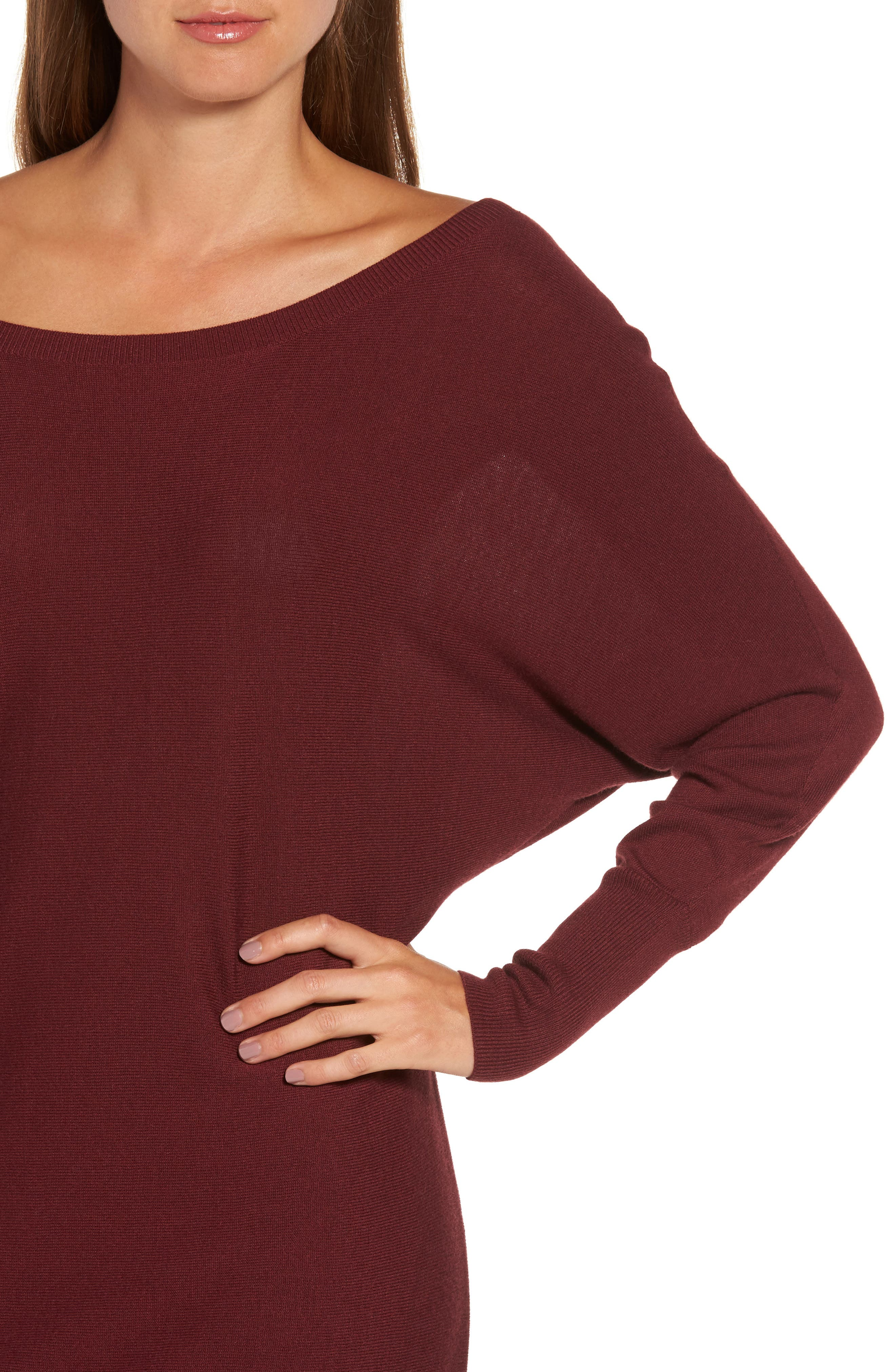 Off the Shoulder Sweater Tunic,                             Alternate thumbnail 24, color,