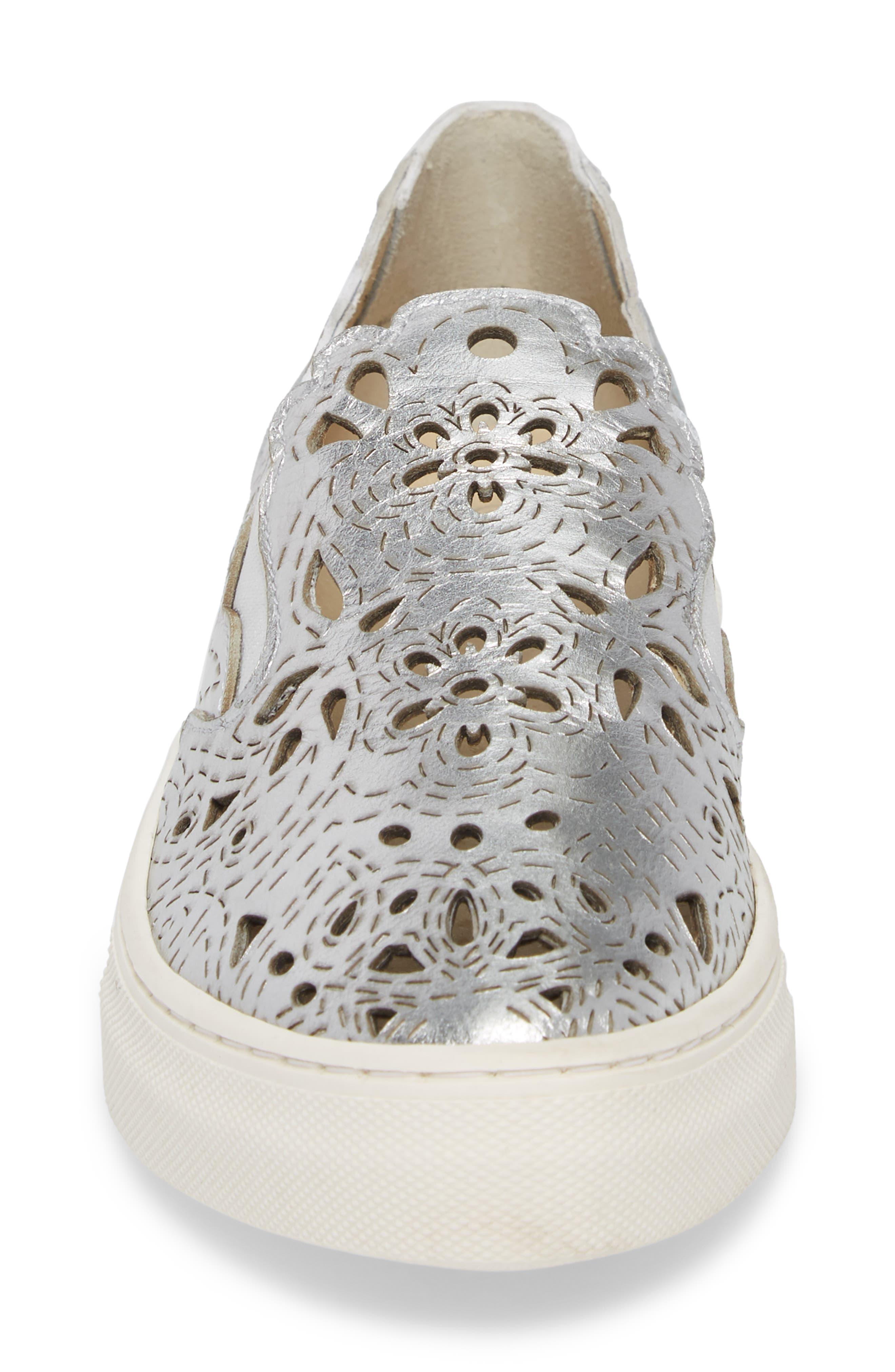 Even Better Laser Cutout Slip-On Sneaker,                             Alternate thumbnail 4, color,                             040