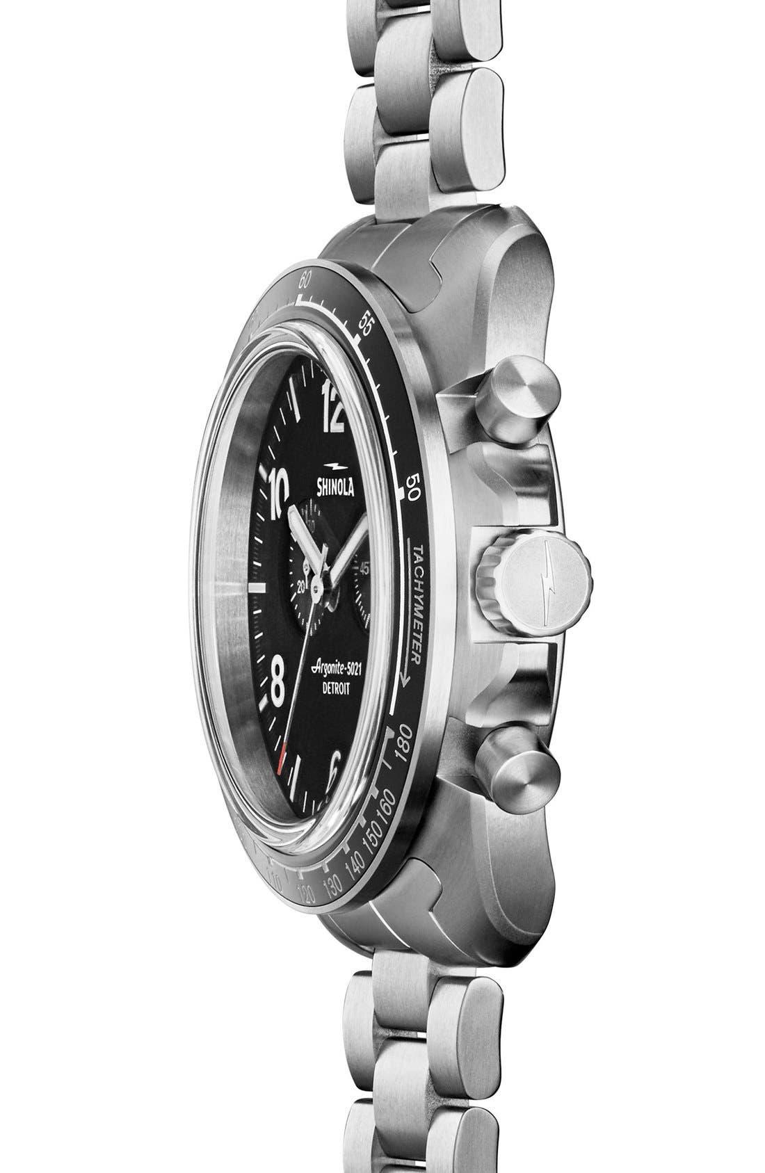 'Rambler' Chronograph Bracelet Watch, 44mm,                             Alternate thumbnail 3, color,                             SILVER/ BLACK