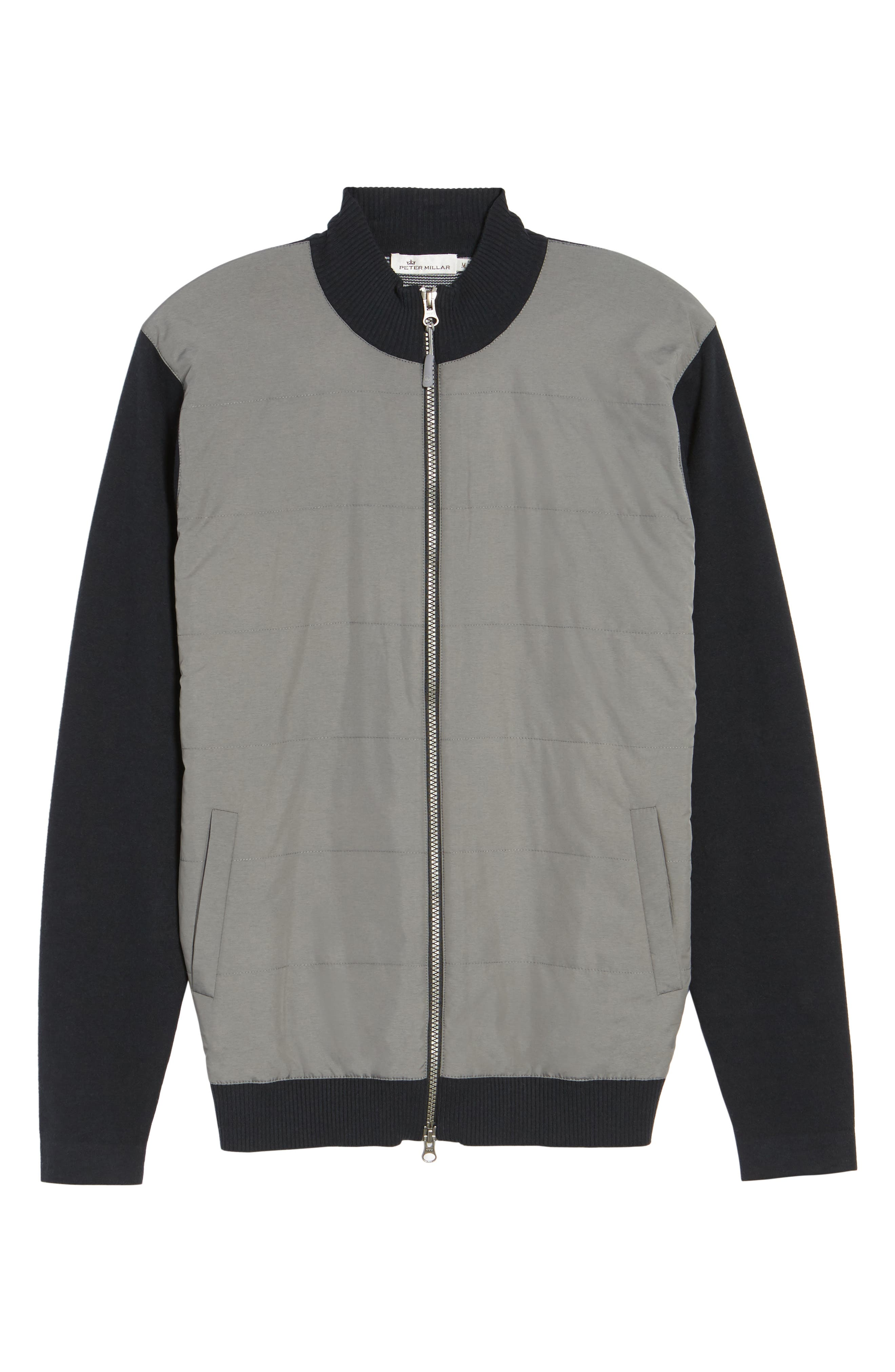 Patterson Zip Hybrid Jacket,                             Alternate thumbnail 6, color,                             001