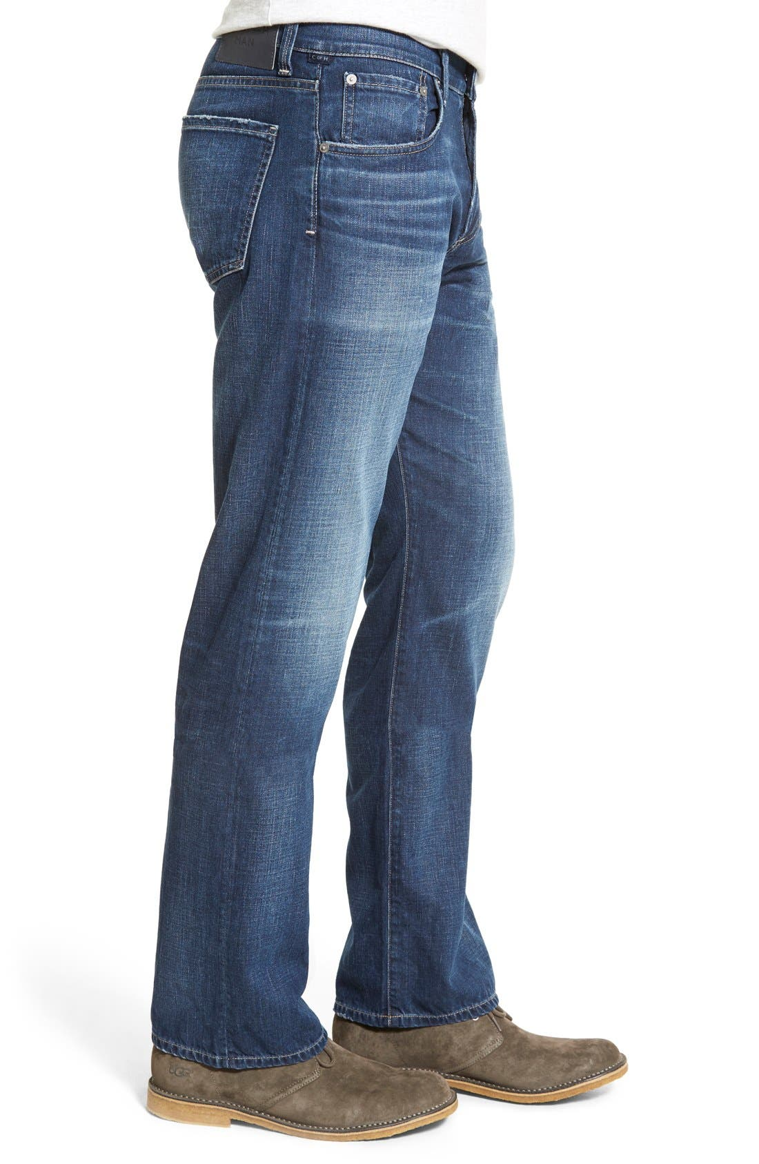 'Evans' Relaxed Fit Jeans,                             Alternate thumbnail 4, color,                             DERBY