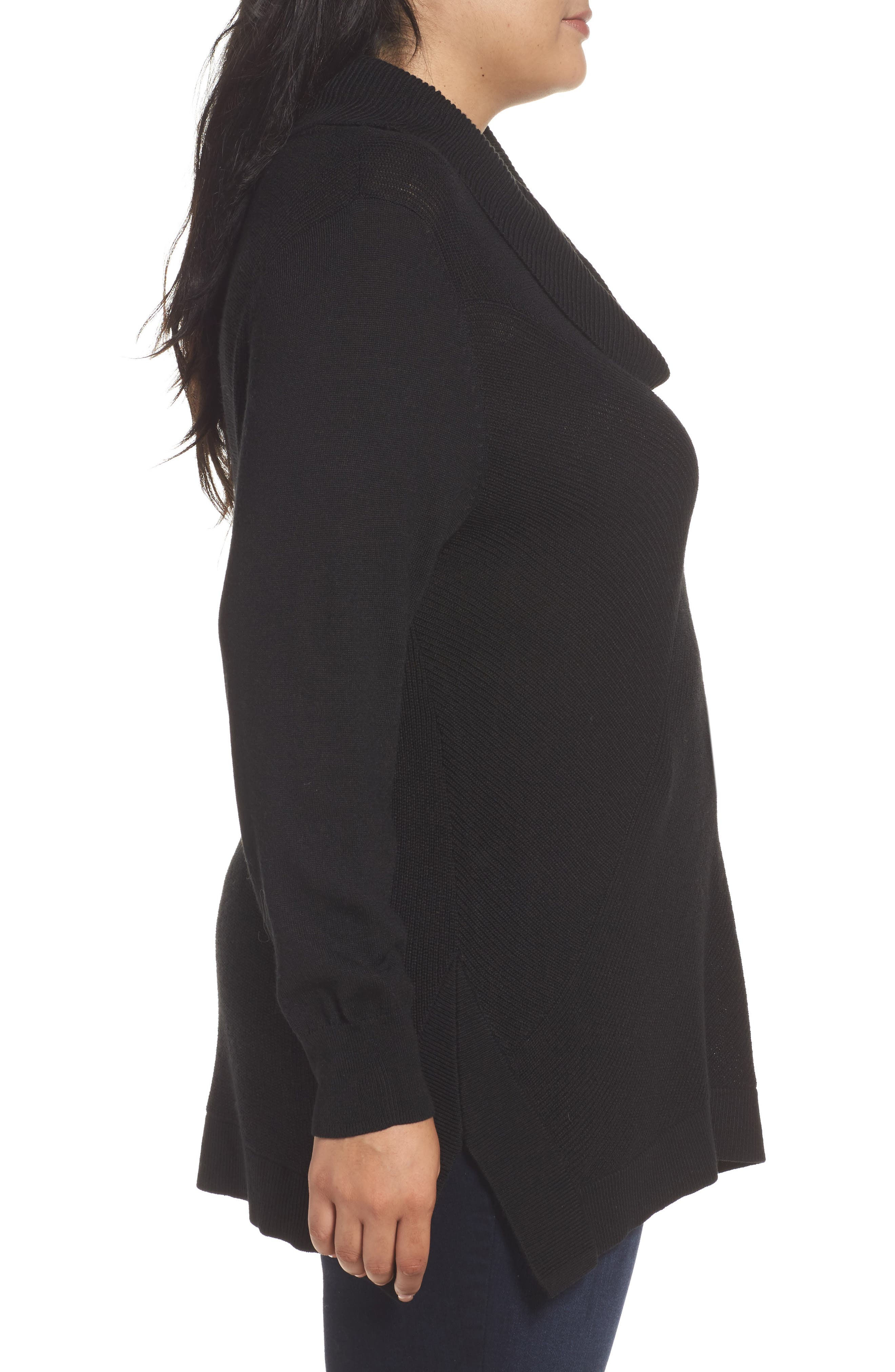Cowl Neck Ribbed Trim Pullover,                             Alternate thumbnail 13, color,