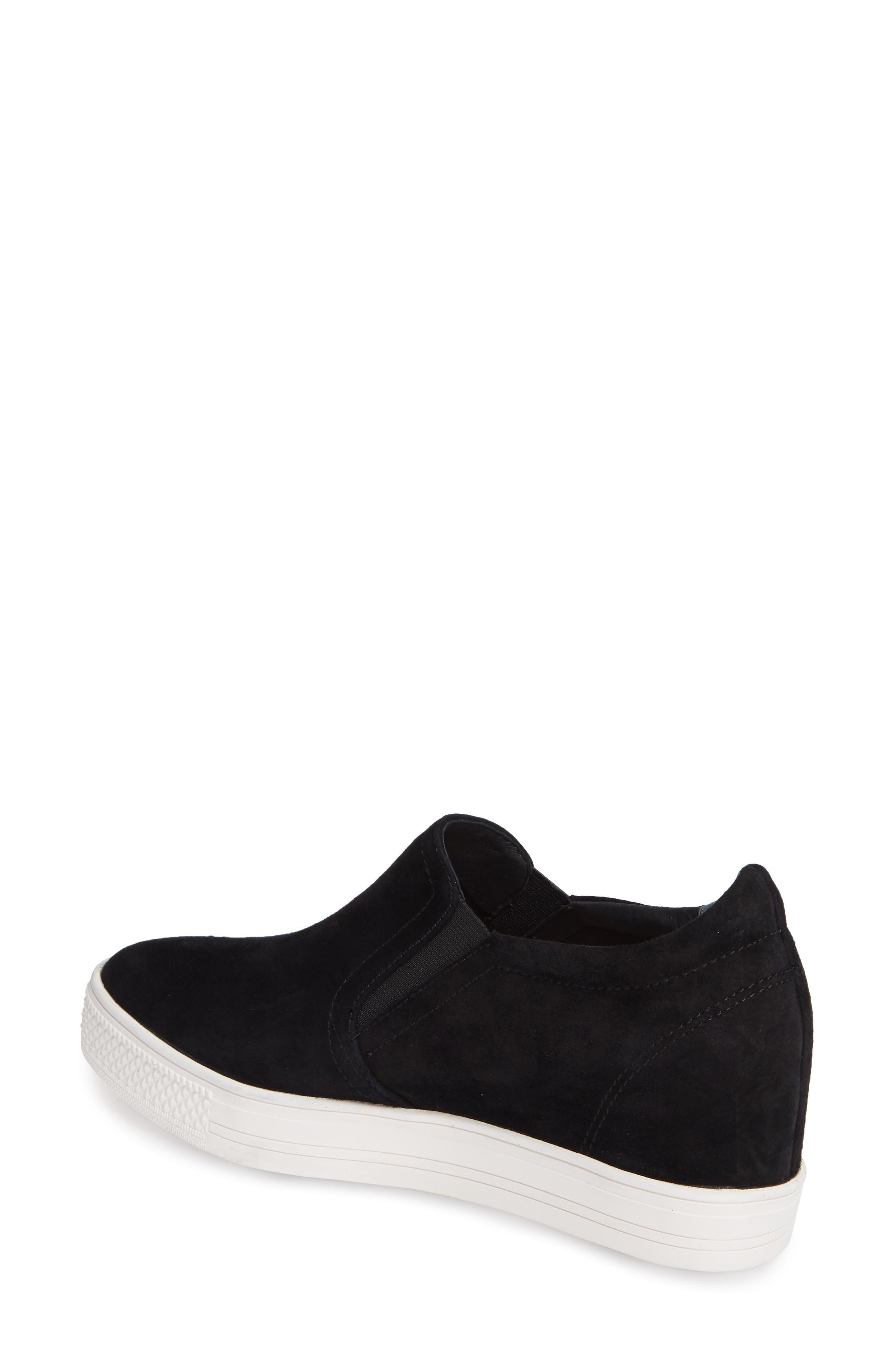 Austin Slip-On Sneaker,                             Alternate thumbnail 2, color,                             BLACK SUEDE