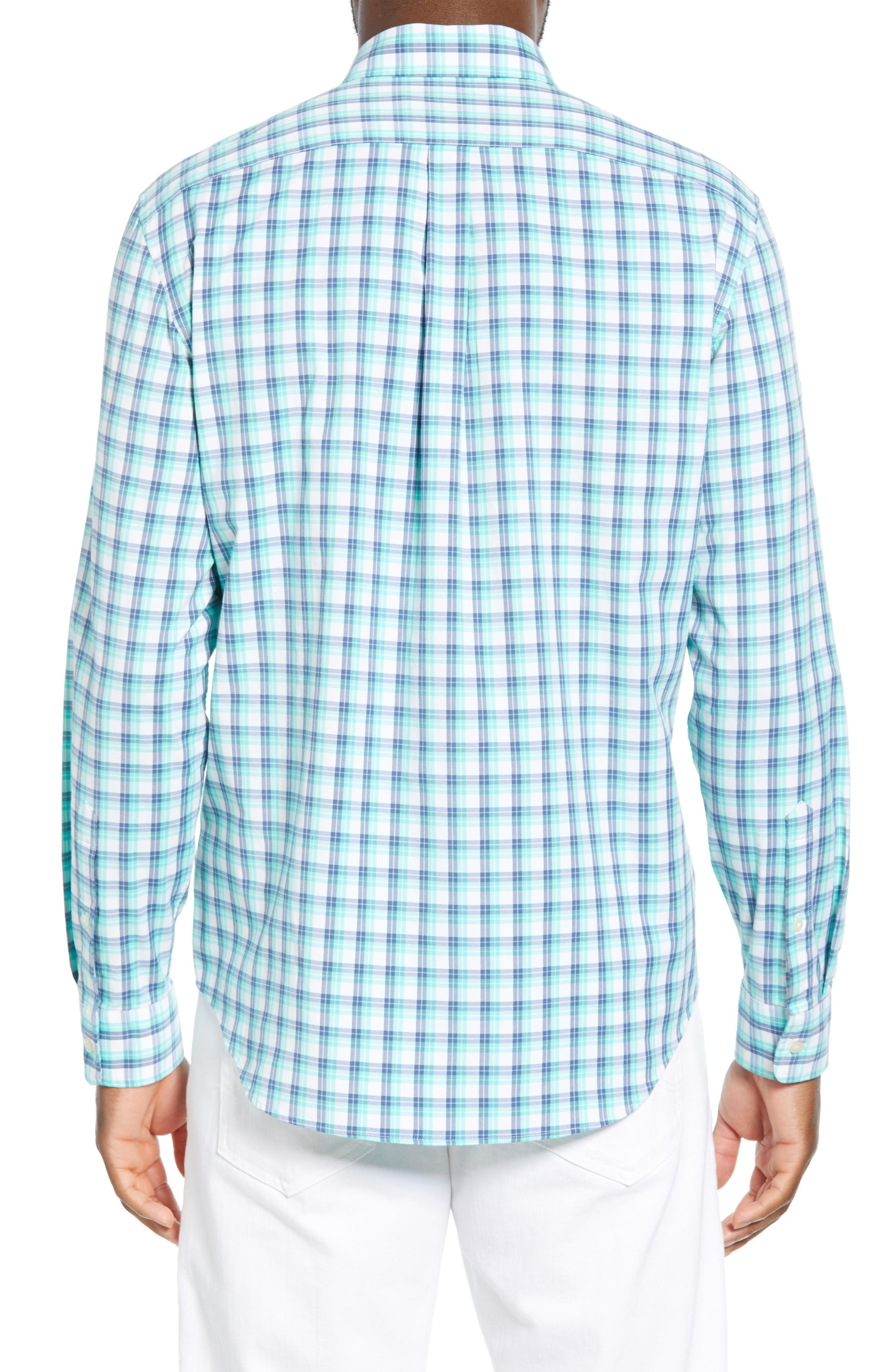 VINEYARD VINES,                             South Street Tucker Slim Fit Sport Shirt,                             Alternate thumbnail 3, color,                             CAPRI BLUE