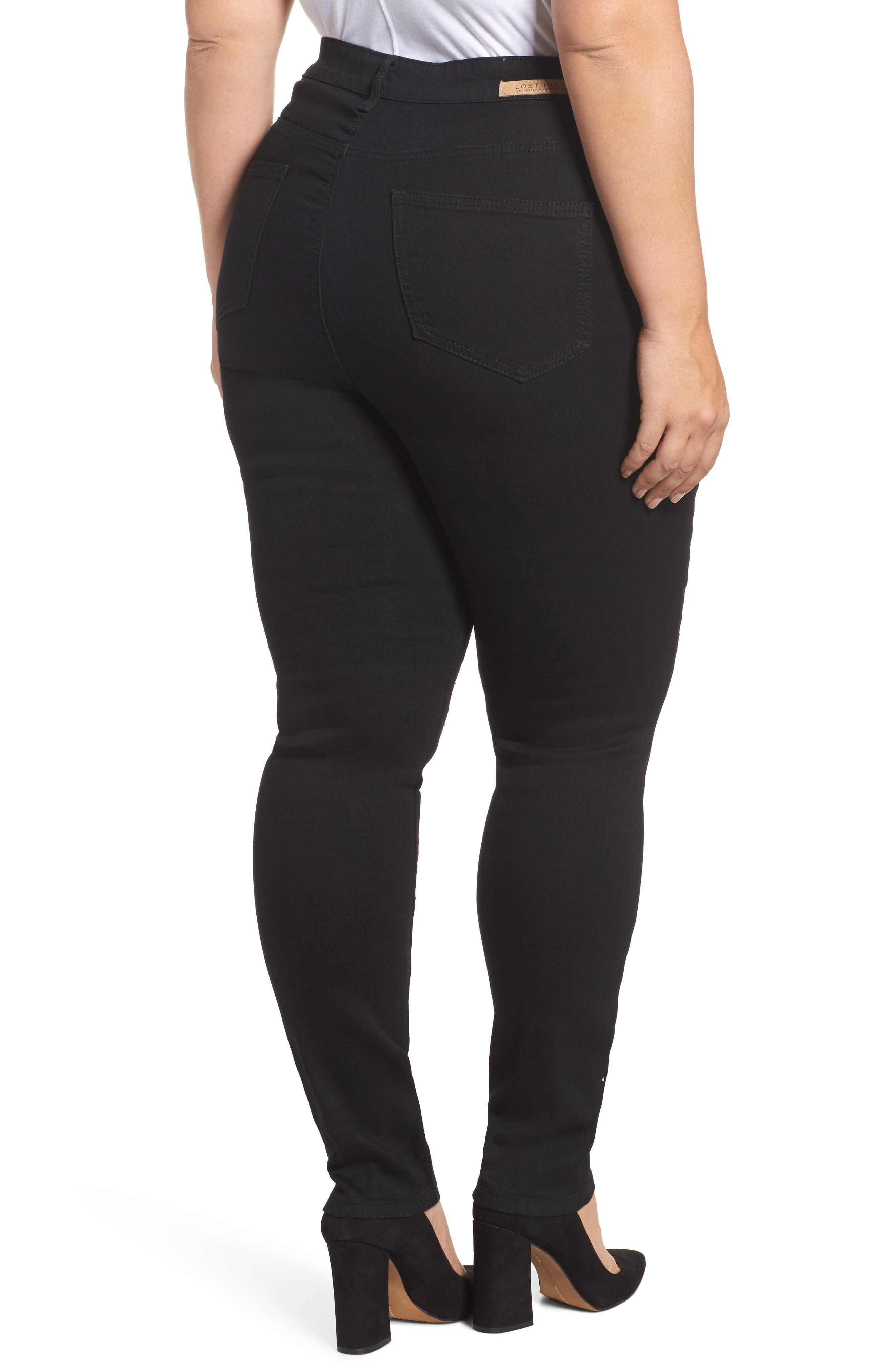 Sequin Skinny Jeans,                             Alternate thumbnail 2, color,                             001