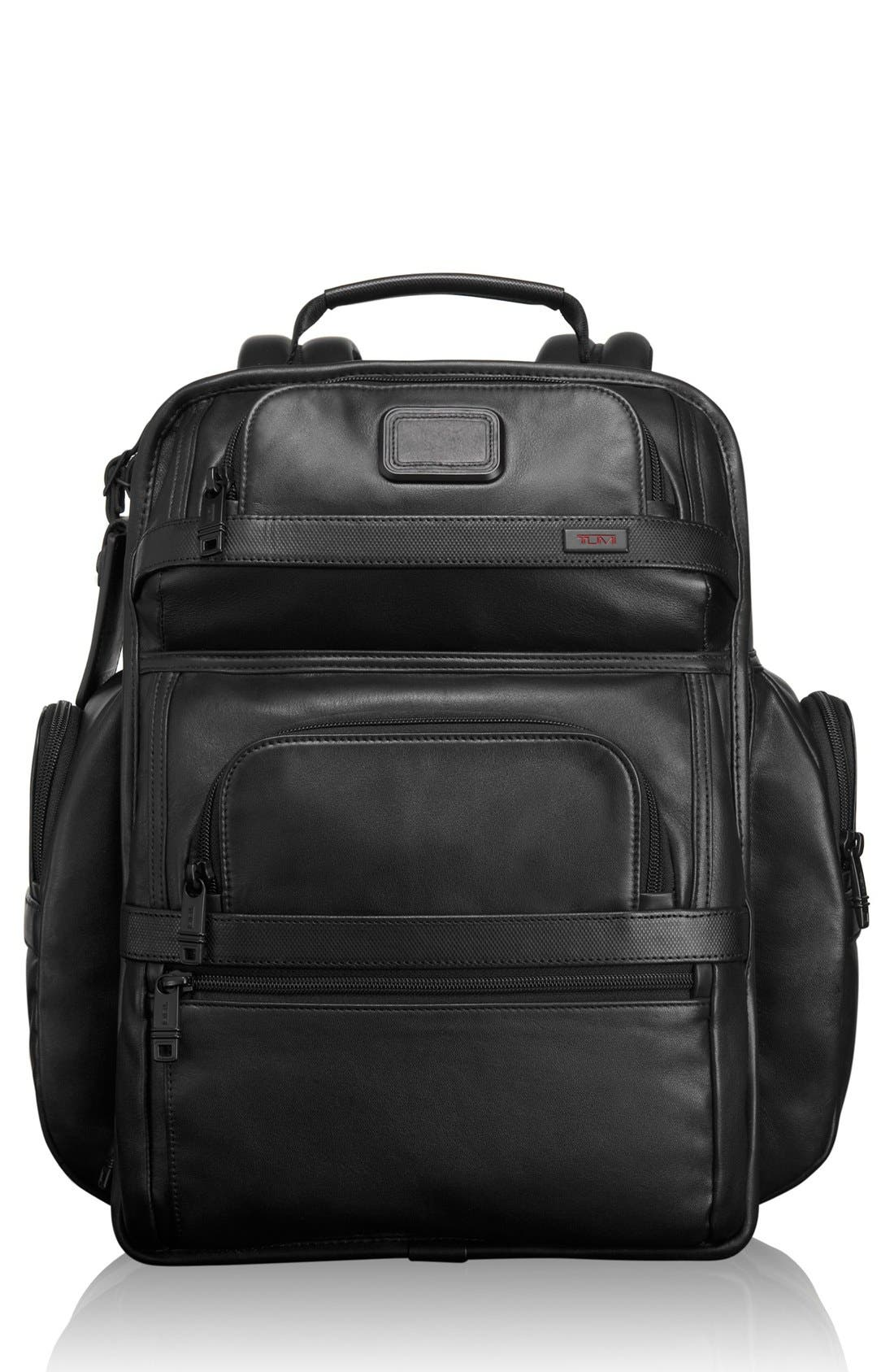 Alpha 2 T-Pass<sup>®</sup> Leather Brief Pack<sup>®</sup>,                         Main,                         color, 007