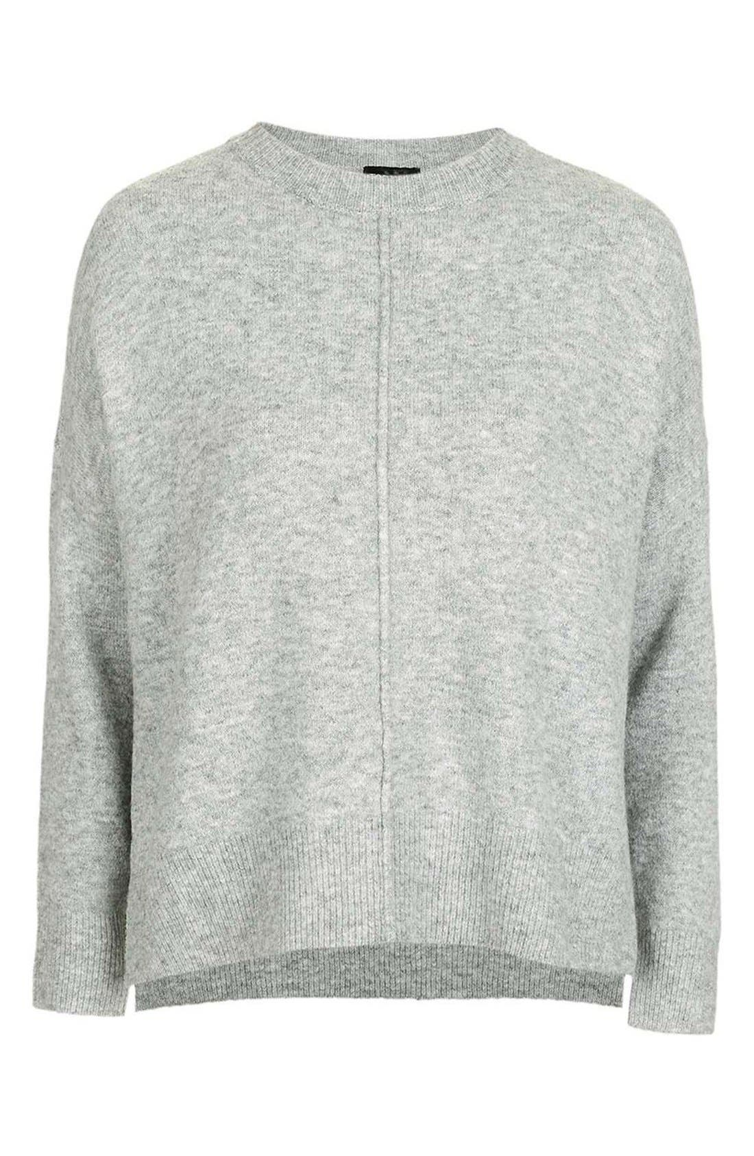 Zip Side Sweater,                             Alternate thumbnail 5, color,                             020