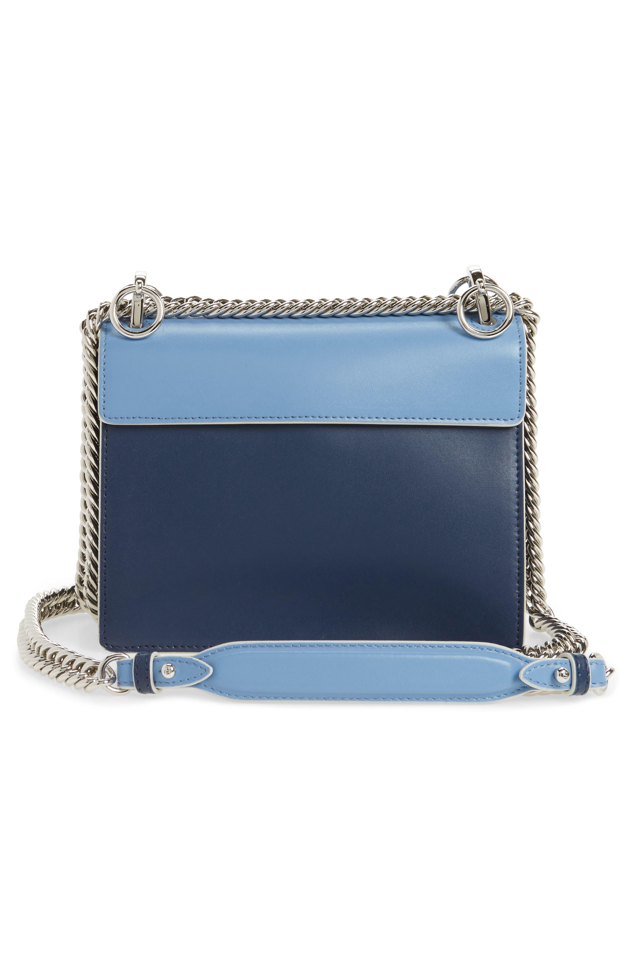 Mini Kan I Imitation Pearl Scallop Leather Shoulder Bag,                             Alternate thumbnail 3, color,                             BLUE