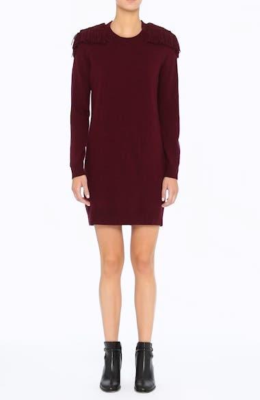 Neto Wool & Cashmere Fringe Sweater Dress, video thumbnail