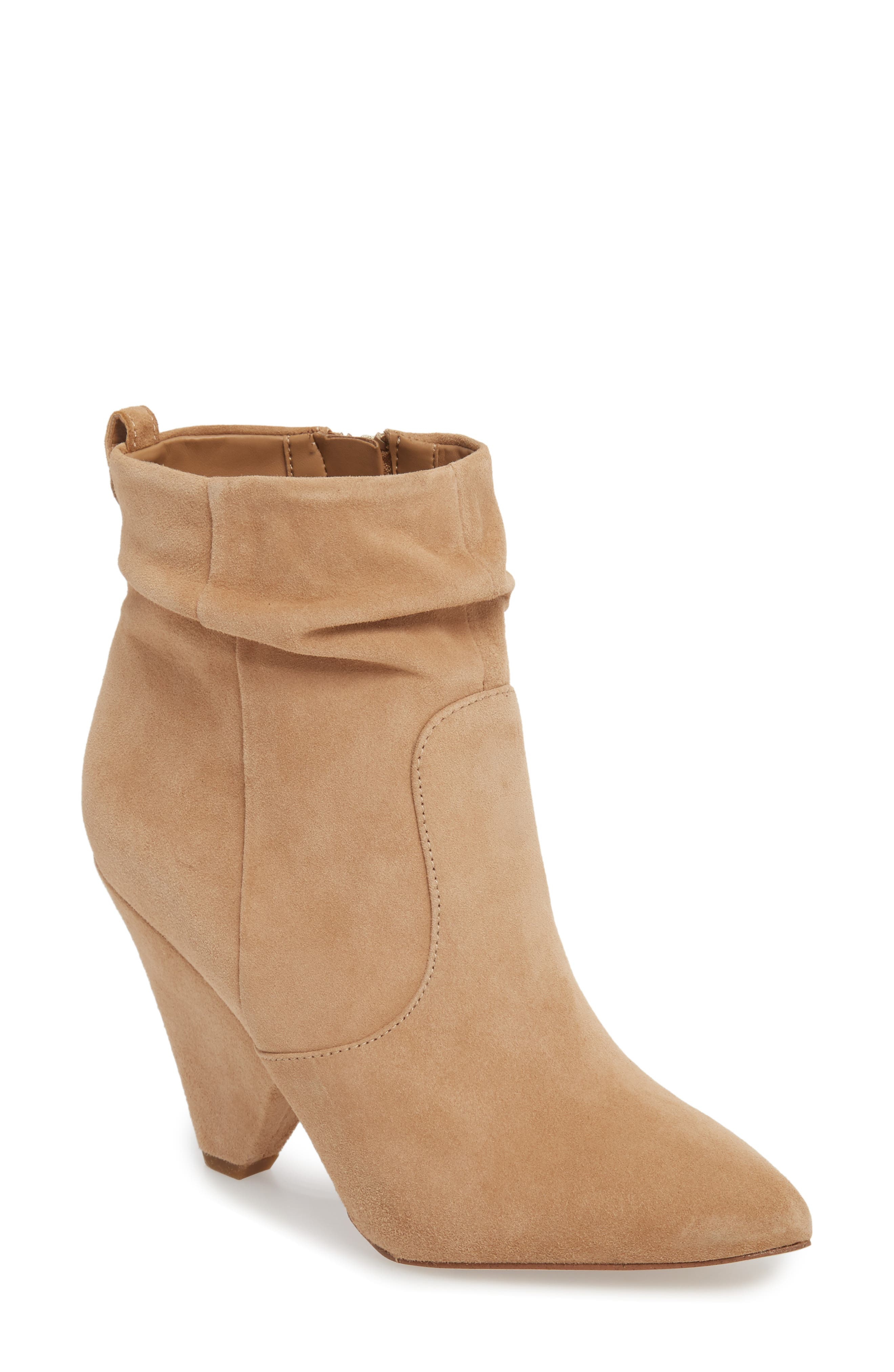 Roden Bootie,                         Main,                         color, GOLDEN CARAMEL LEATHER