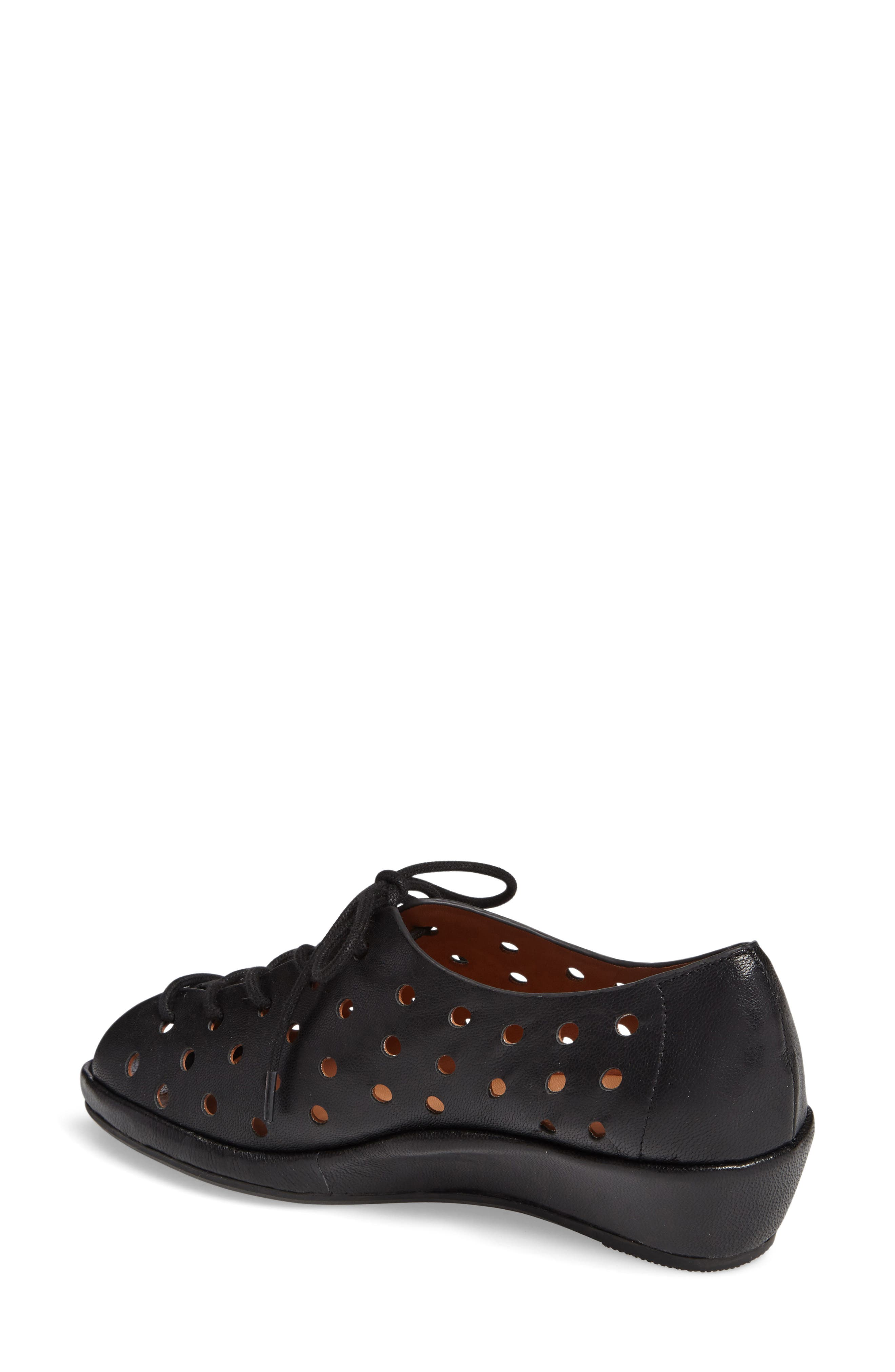 Boccoo Perforated Lace-Up Oxford,                             Alternate thumbnail 2, color,                             001