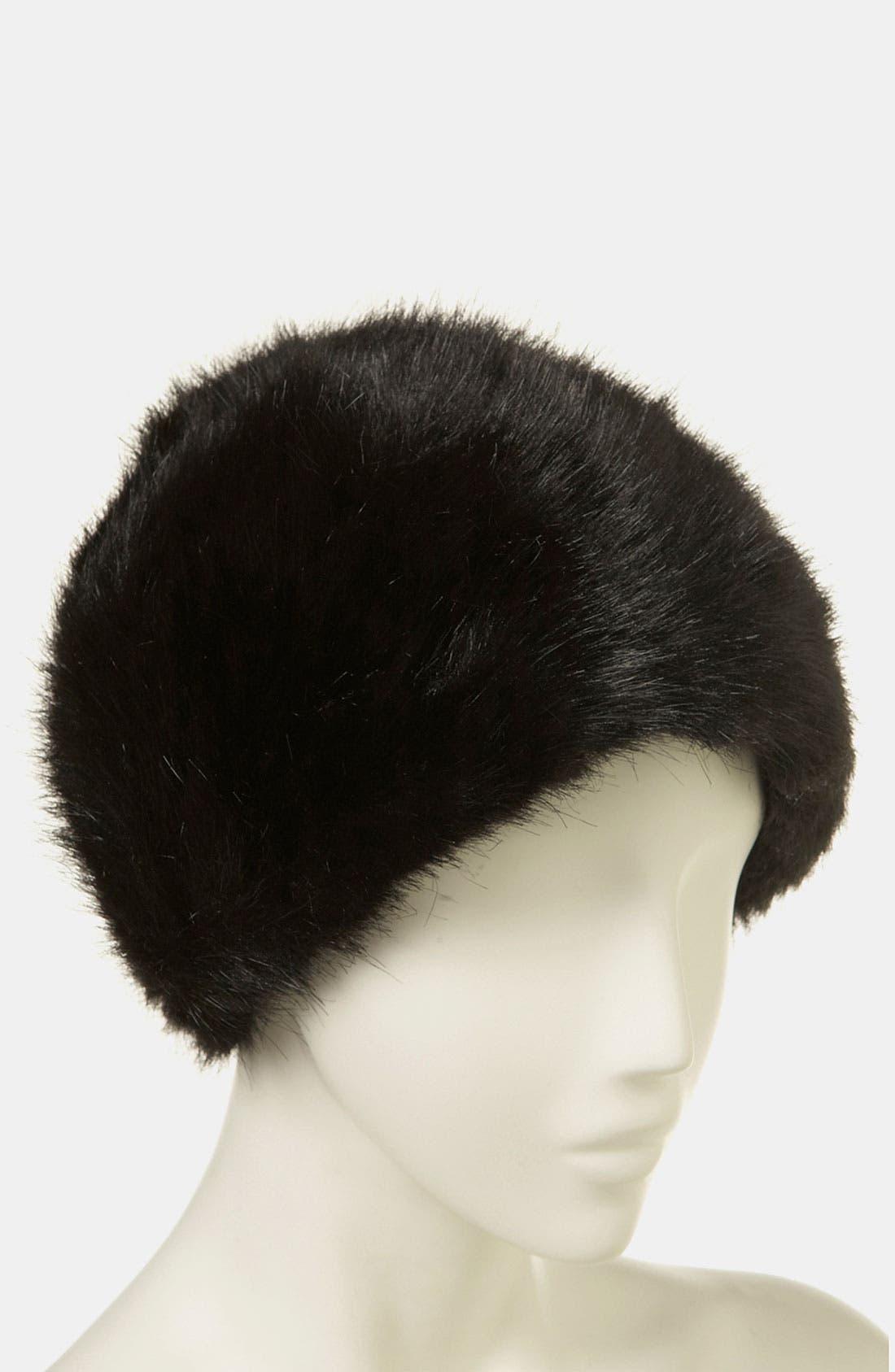 Faux Fur Hat,                             Alternate thumbnail 2, color,                             001