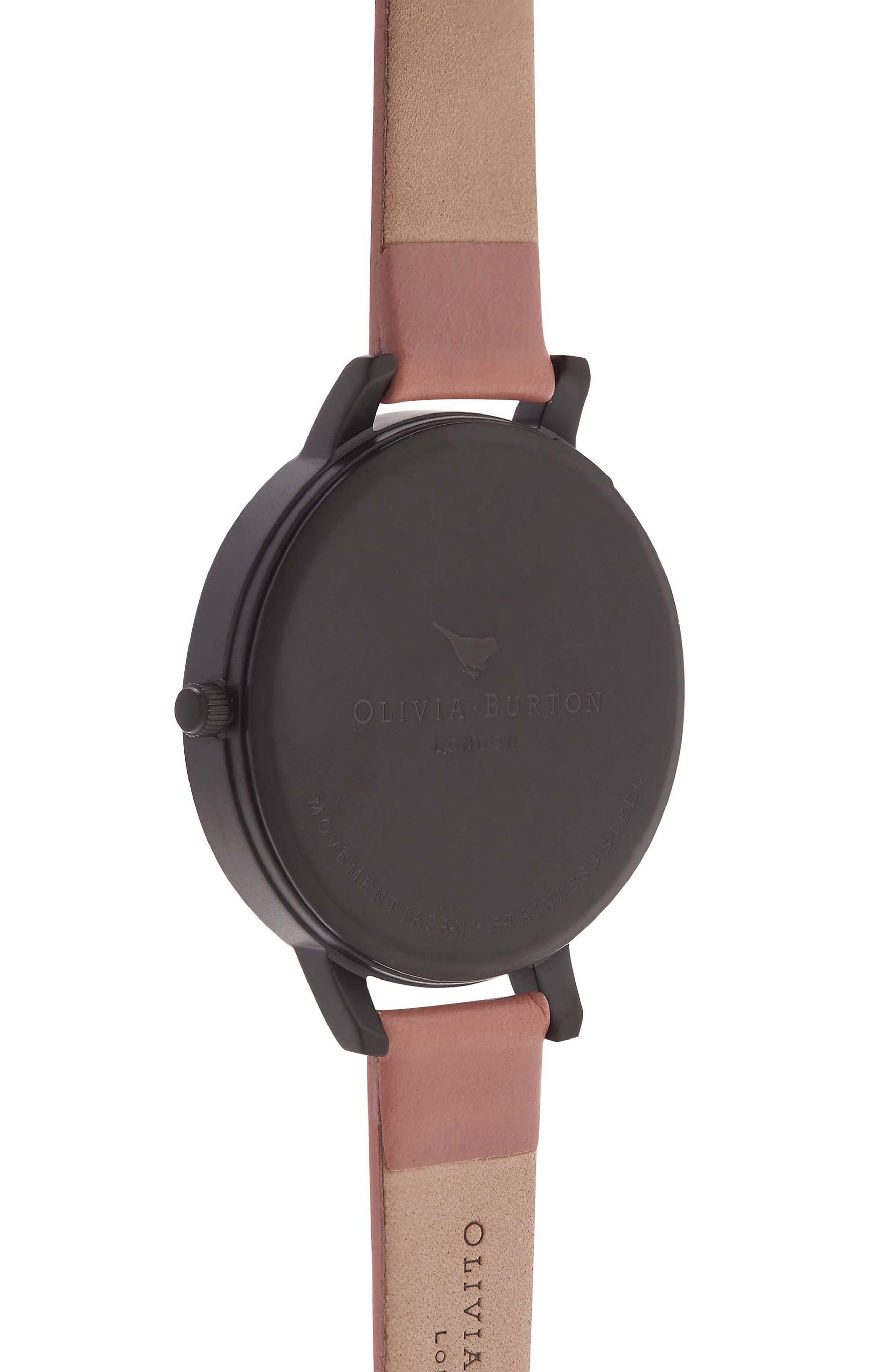 'After Dark' Leather Strap Watch, 38mm,                             Alternate thumbnail 5, color,