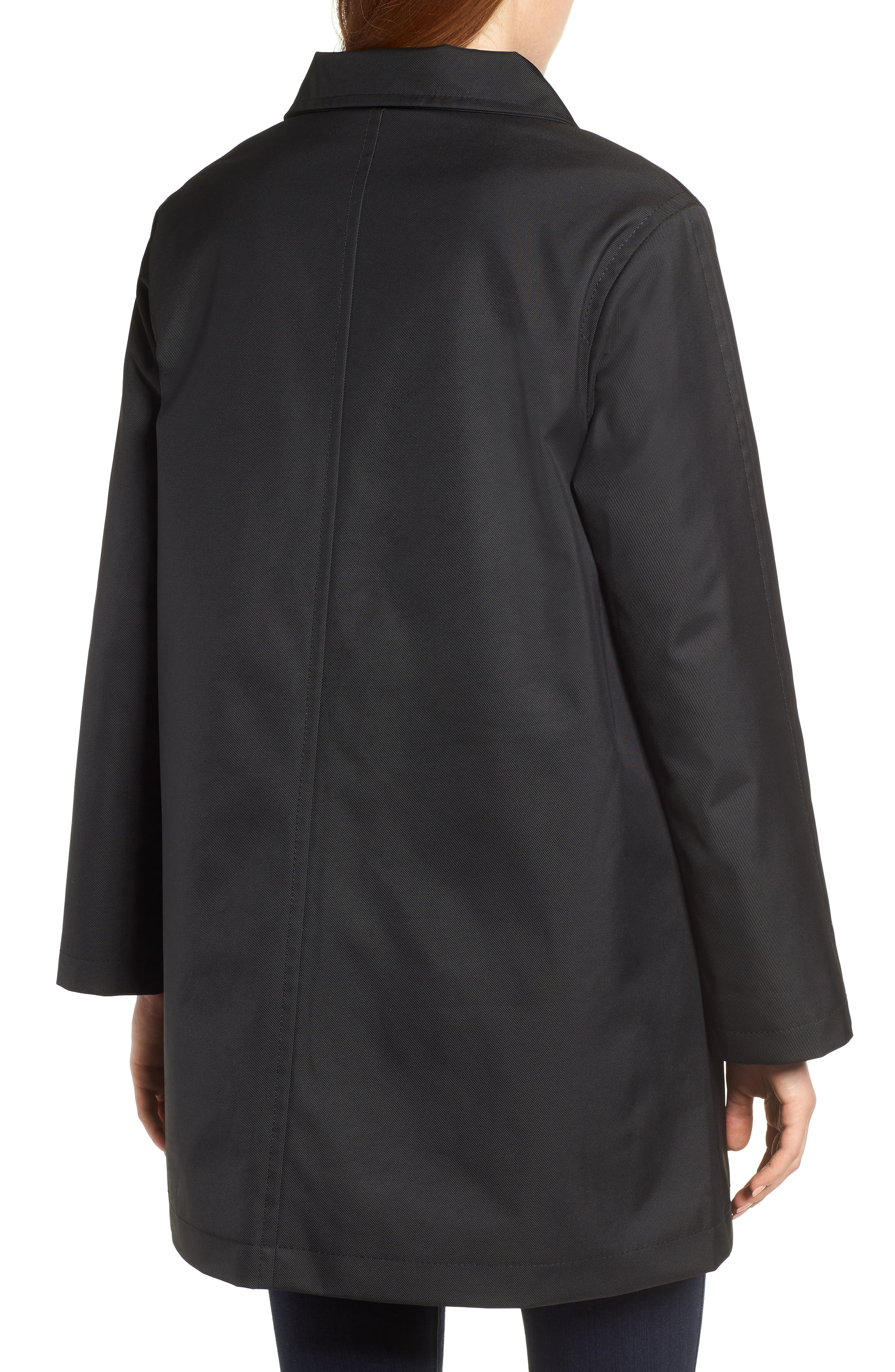 Tenley Asymmetrical Collar Coat,                             Alternate thumbnail 2, color,                             BLACK