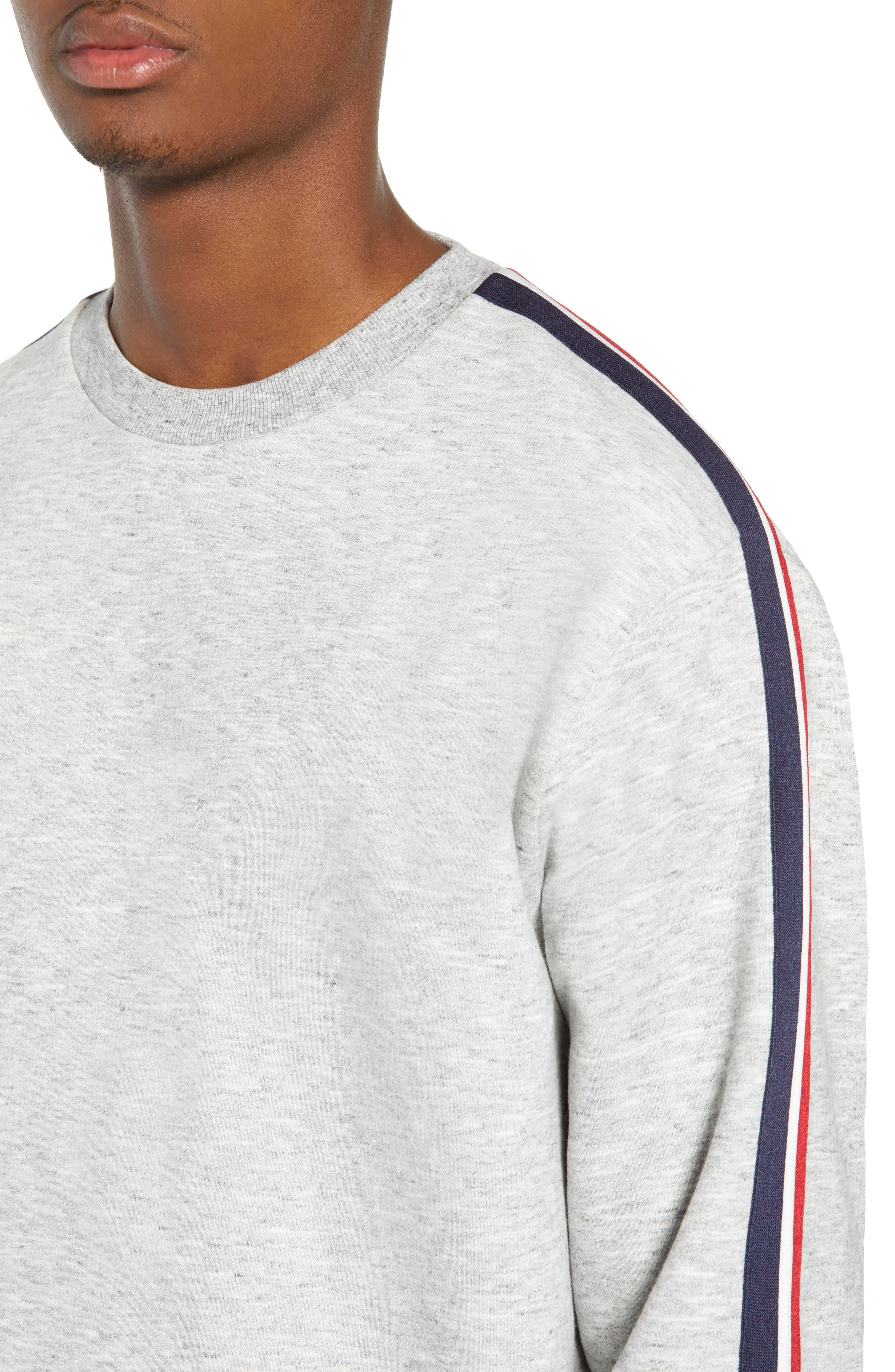 French Stripe Tape Sweatshirt,                             Alternate thumbnail 4, color,                             050