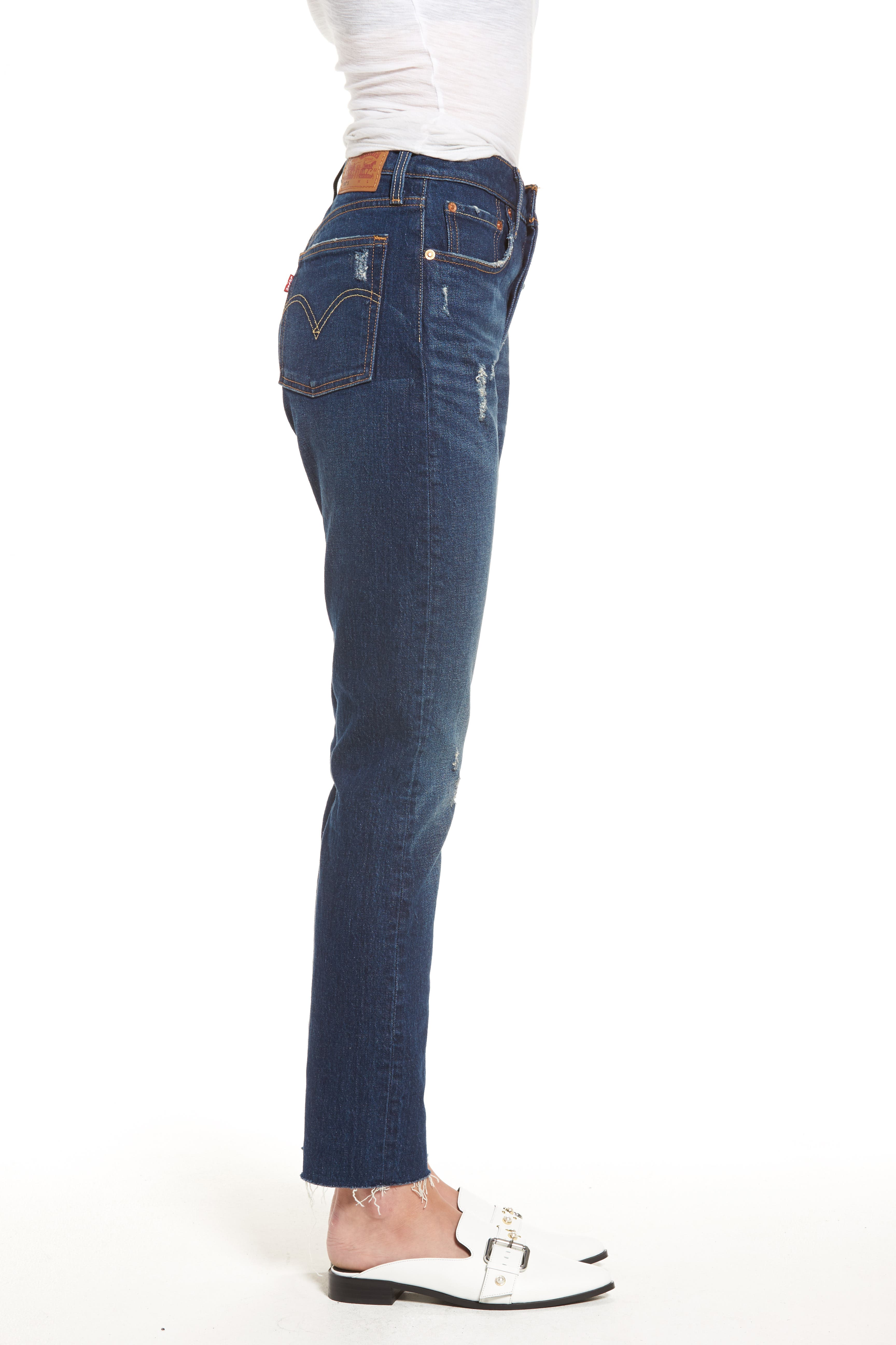 Levis<sup>®</sup> 501 Raw Hem Skinny Jeans,                             Alternate thumbnail 3, color,