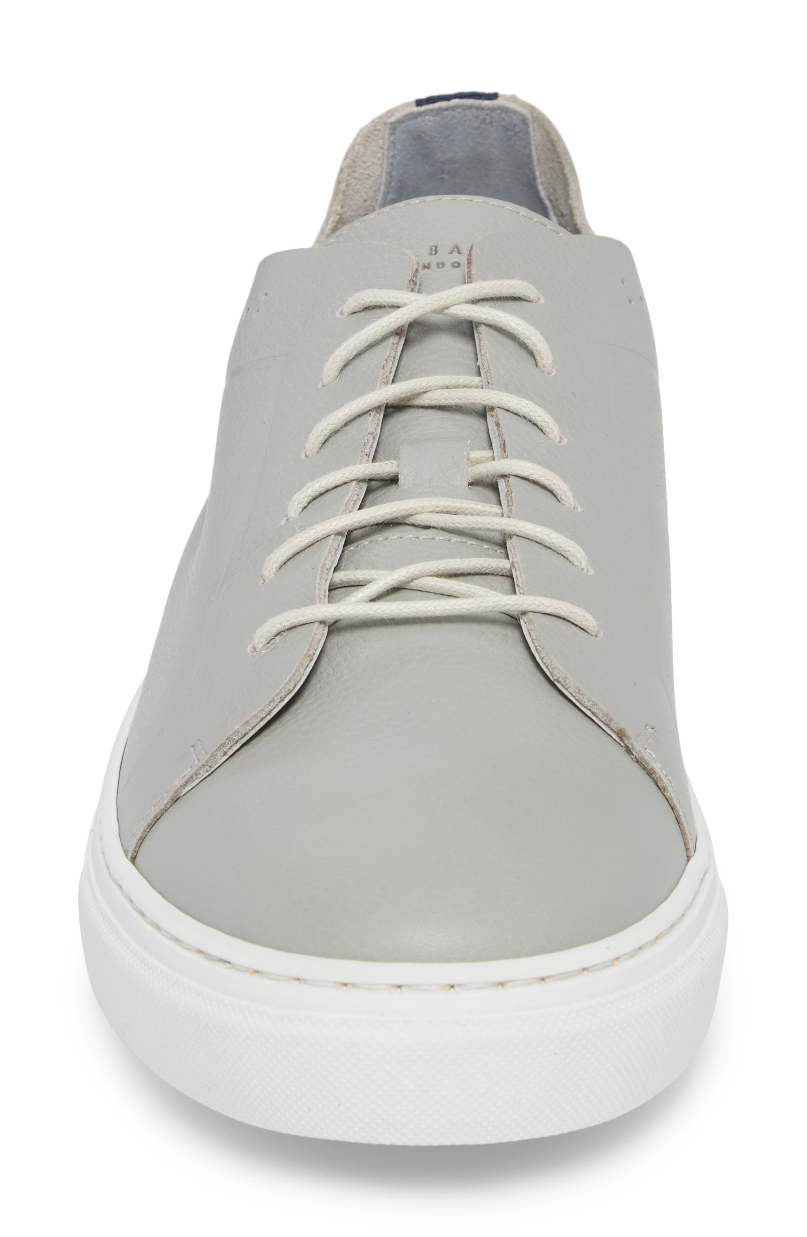 Nowull Brogued Sneaker,                             Alternate thumbnail 4, color,                             LIGHT GREY LEATHER
