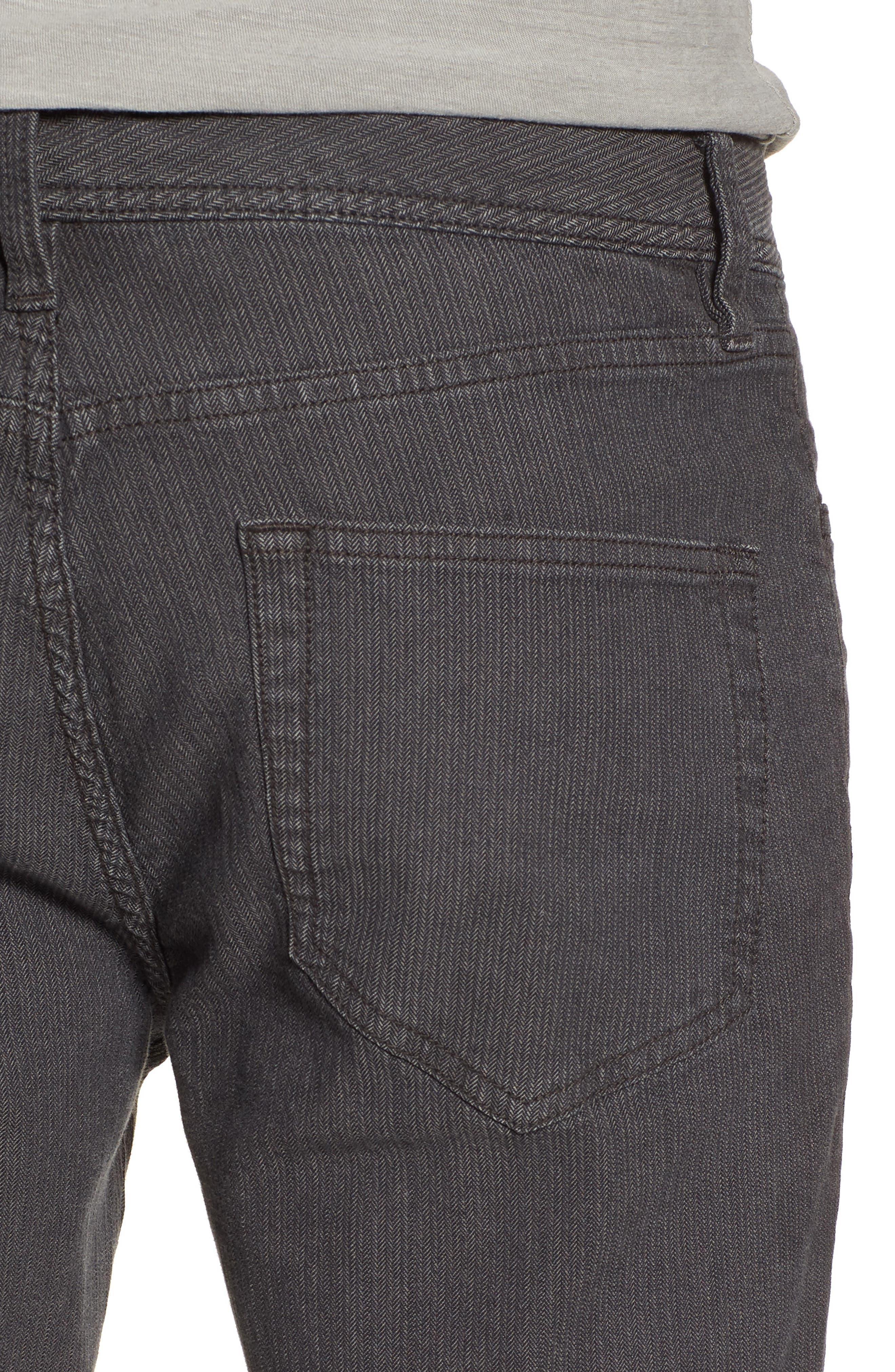 Slim Fit Stretch Herringbone Pants,                             Alternate thumbnail 4, color,
