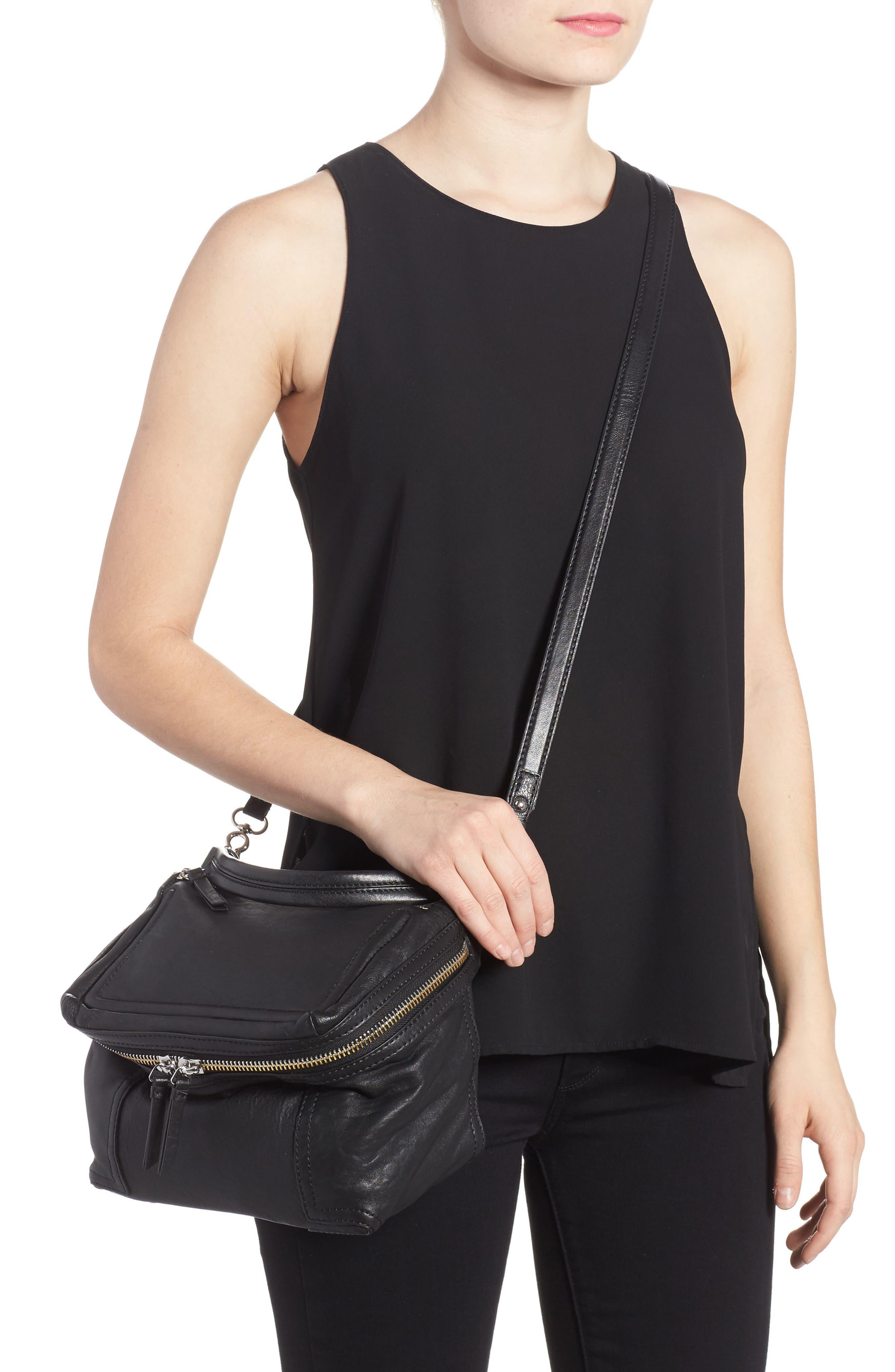 Medium Patch Leather Crossbody Bag,                             Alternate thumbnail 4, color,