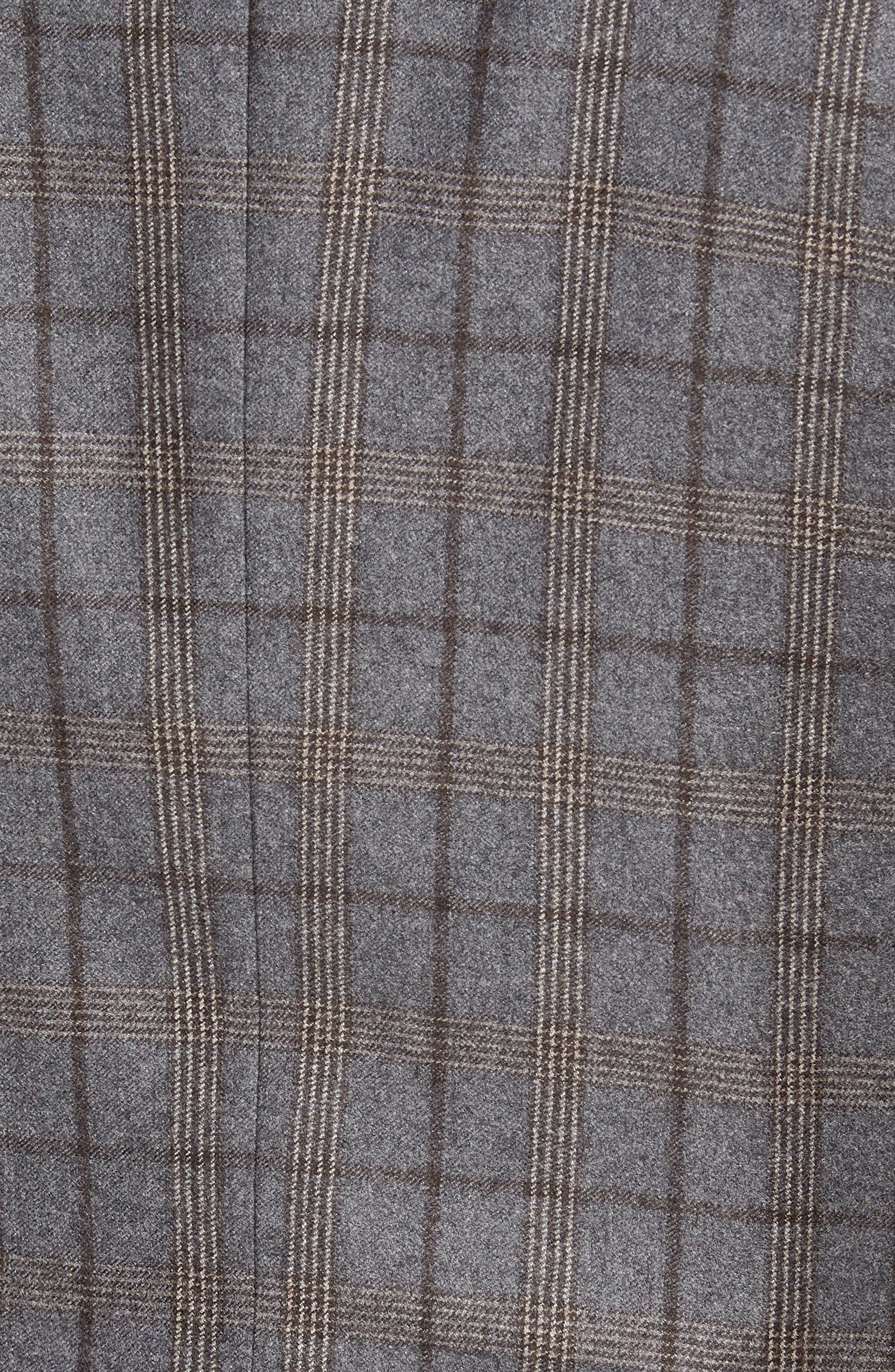 Konan 2B Trim Fit Wool Sport Coat,                             Alternate thumbnail 6, color,                             LIGHT GREY