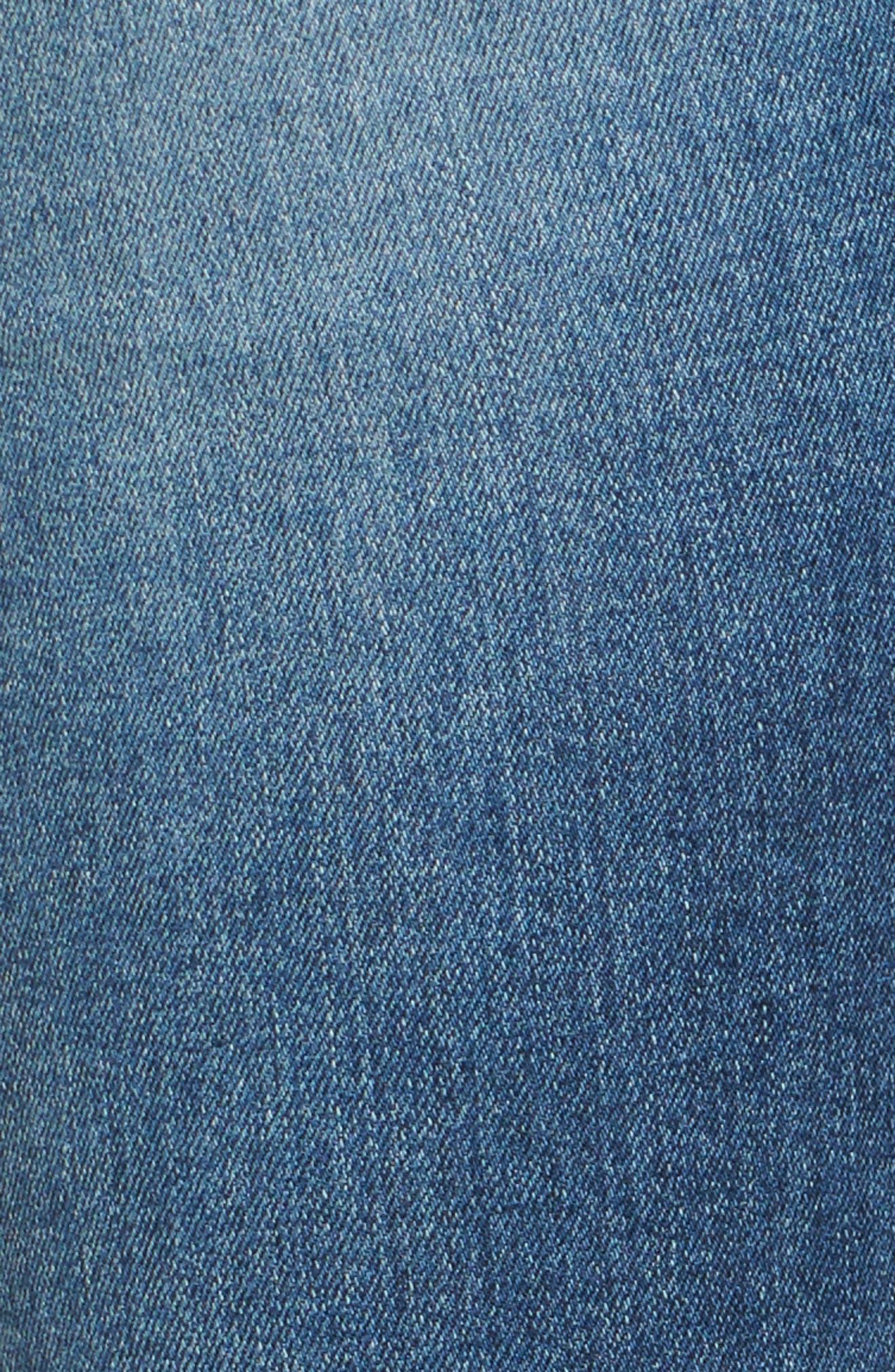 The Stilt Destructed Crop Skinny Jeans,                             Alternate thumbnail 6, color,