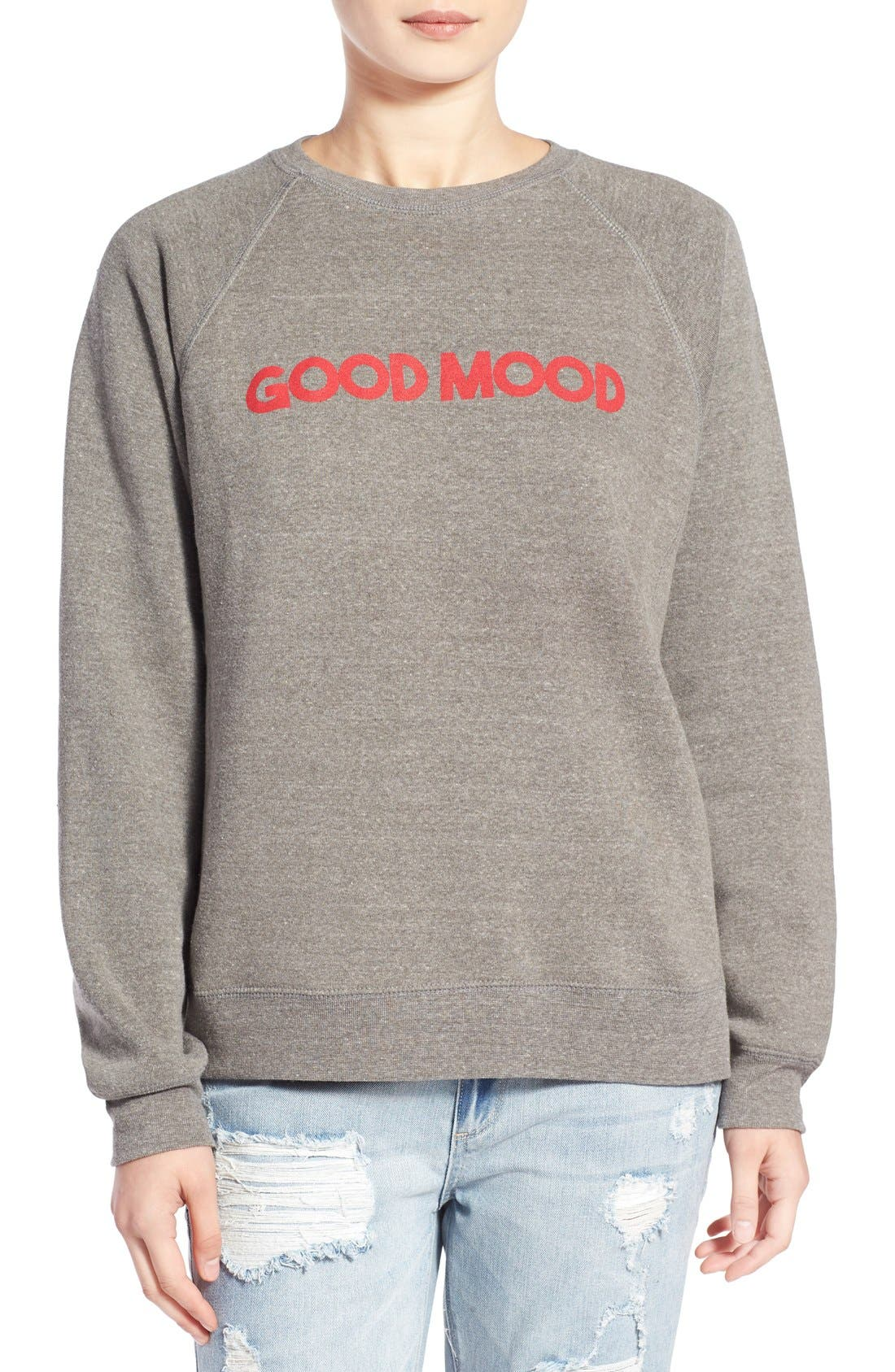 'Good Mood' Graphic Sweatshirt, Main, color, 050
