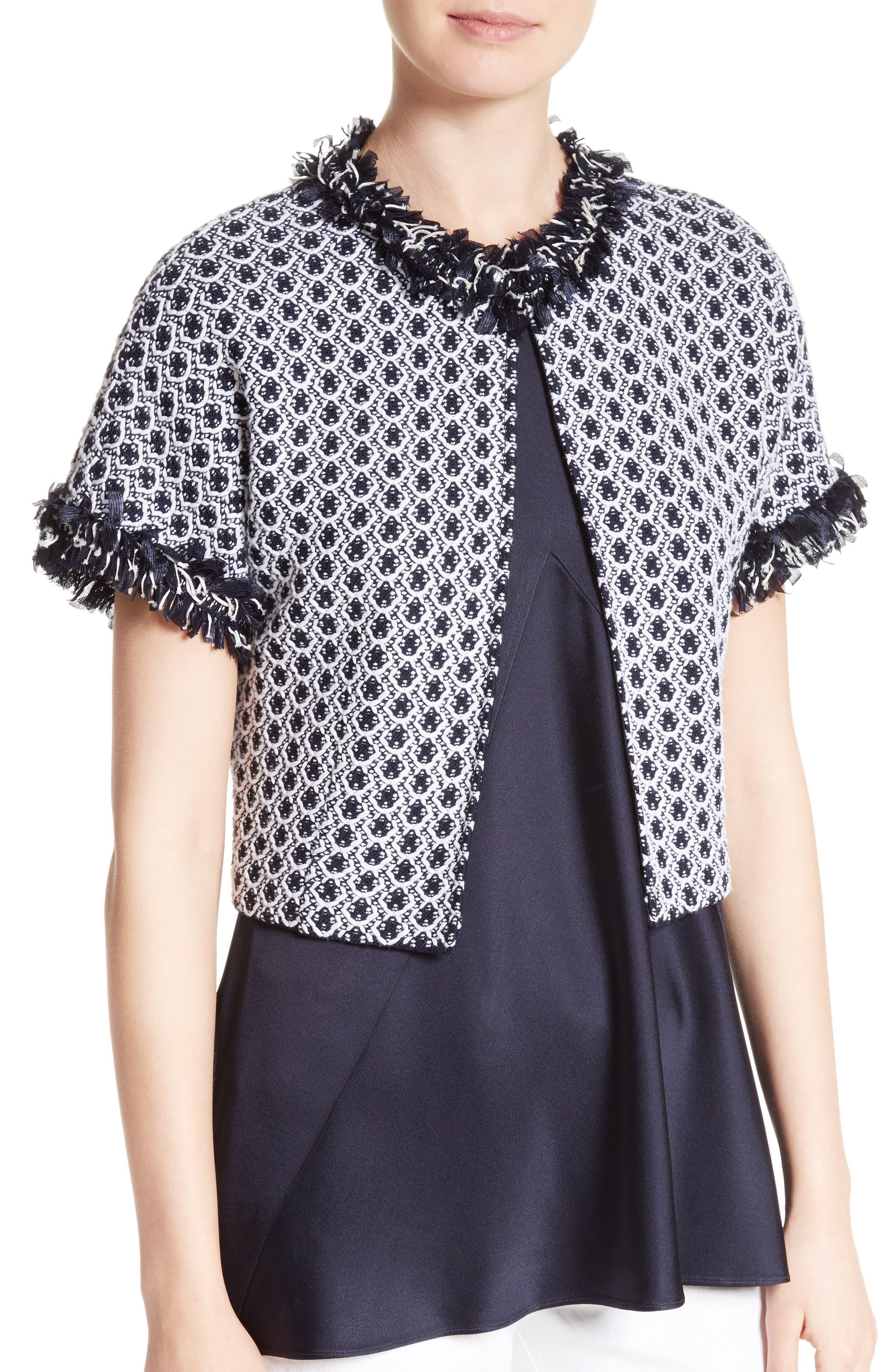 Aadi Tweed Knit Jacket,                             Alternate thumbnail 4, color,                             400