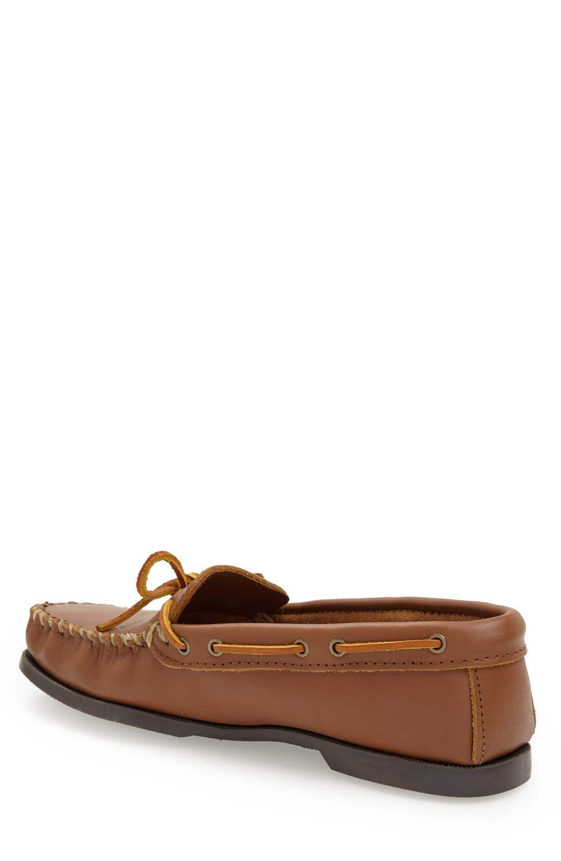 Leather Camp Moccasin,                             Alternate thumbnail 4, color,                             MAPLE
