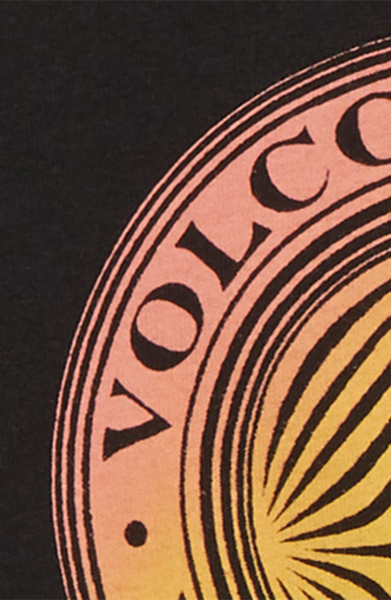 Volcomosphere Logo T-Shirt,                             Alternate thumbnail 2, color,                             BLACK